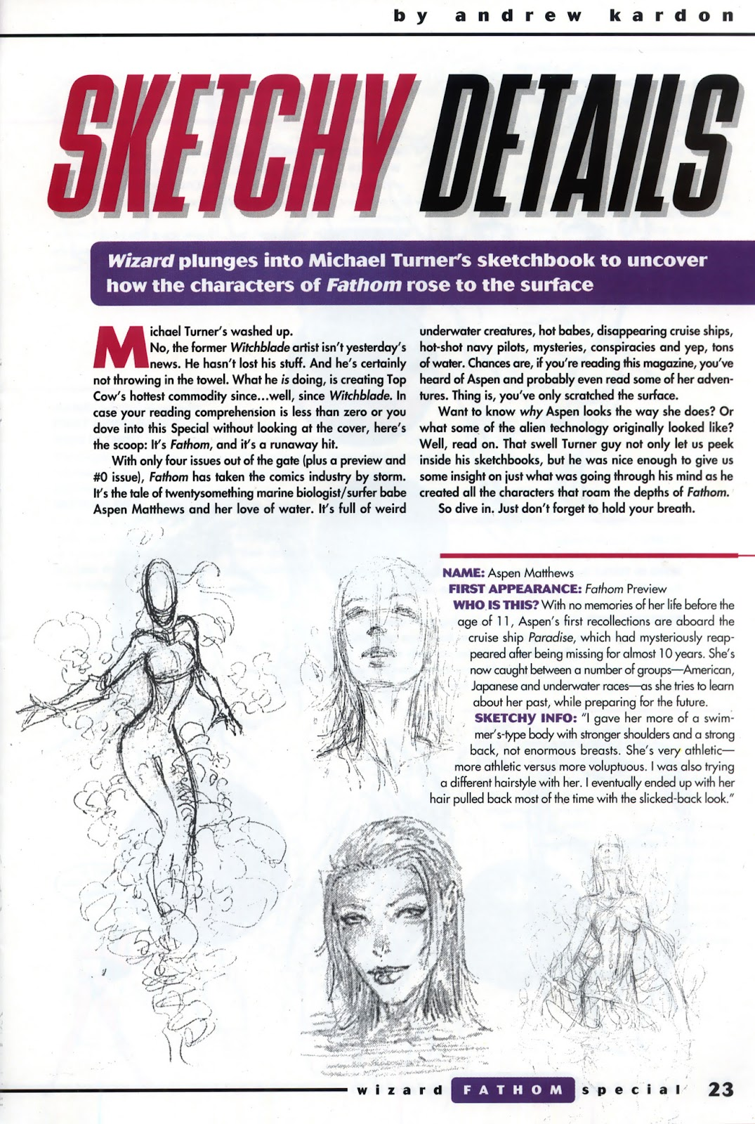 Read online Fathom Special comic -  Issue # Full - 16