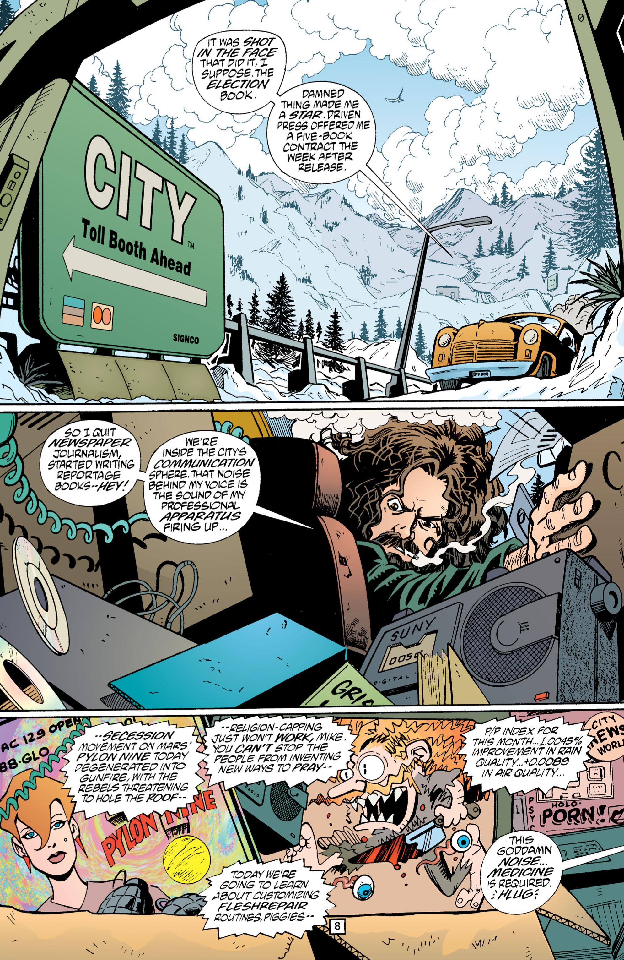 Read online Transmetropolitan comic -  Issue #1 - 9