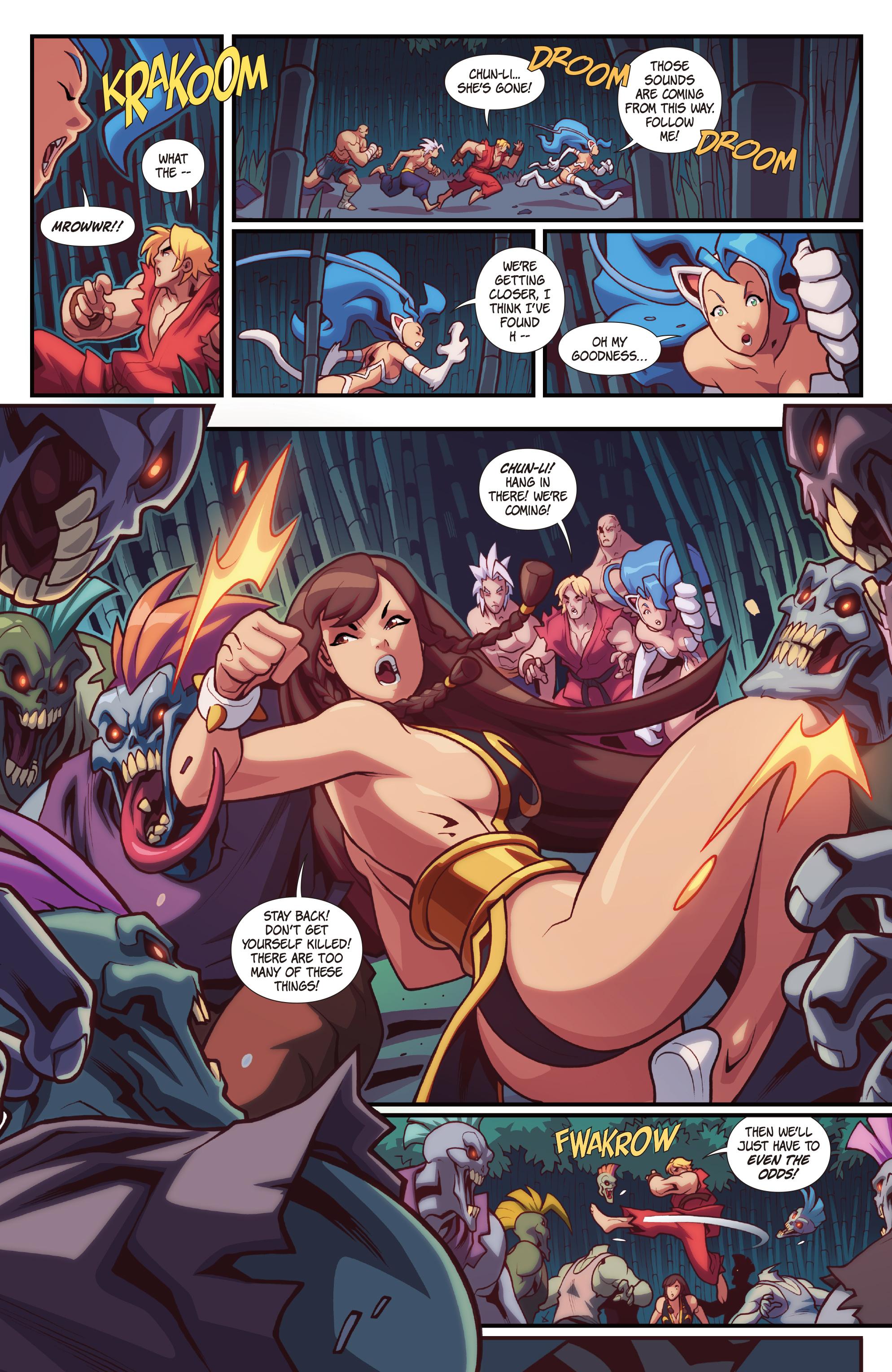Read online Street Fighter VS Darkstalkers comic -  Issue #2 - 11
