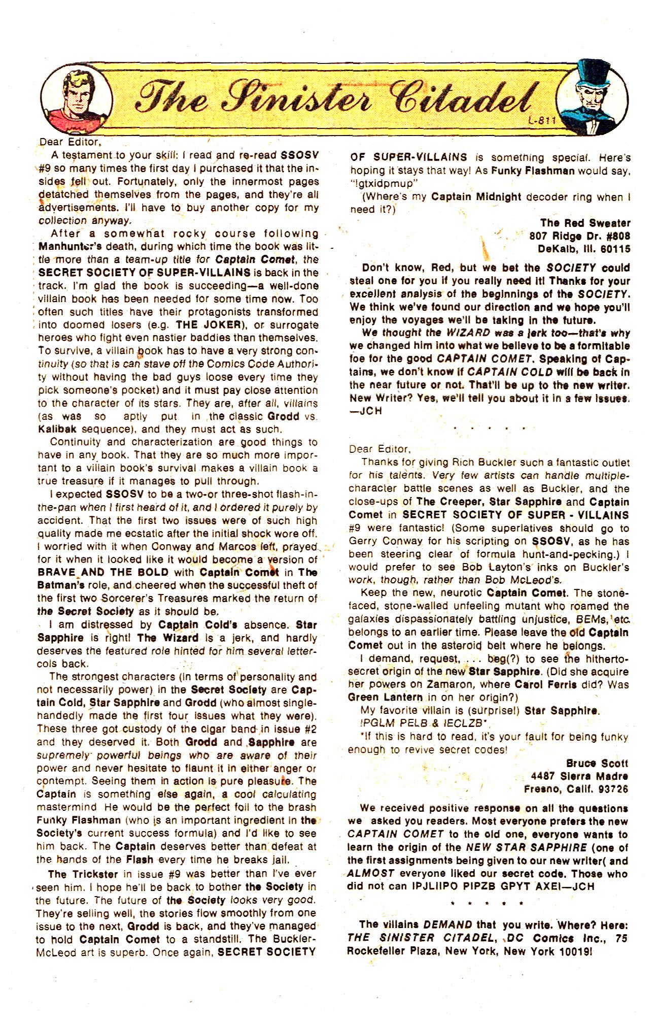 Read online Secret Society of Super-Villains comic -  Issue #12 - 32