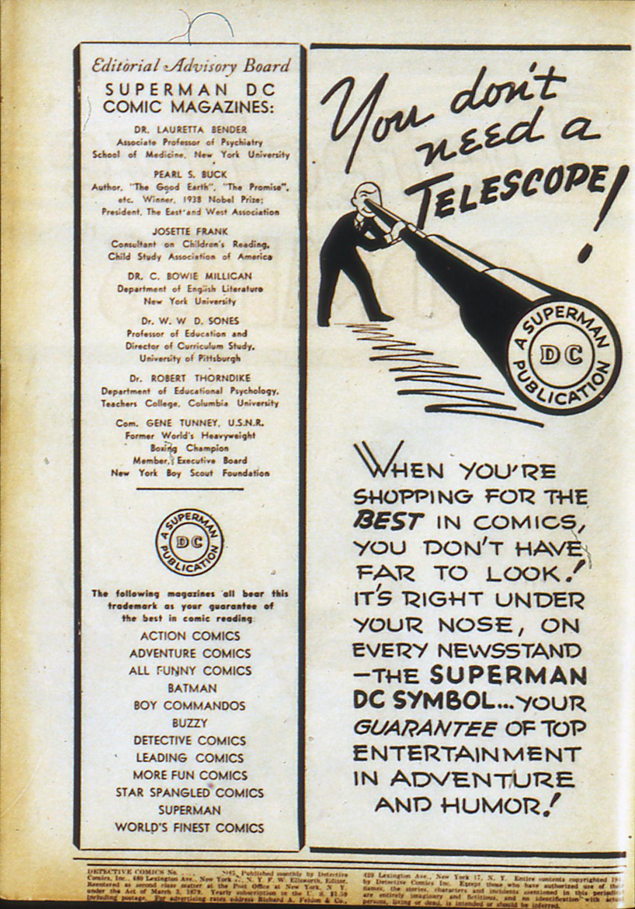 Read online Detective Comics (1937) comic -  Issue #99 - 2