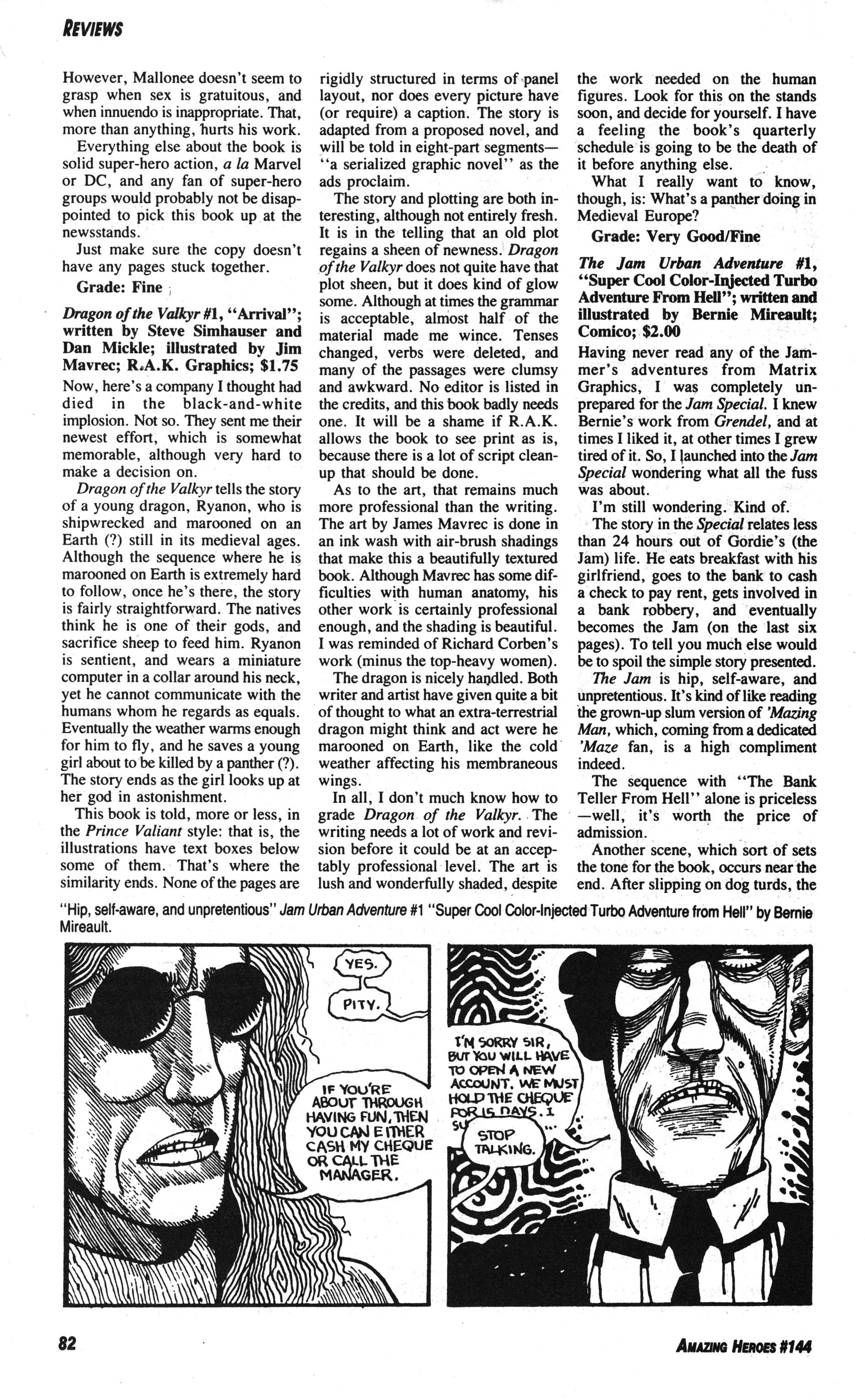 Read online Amazing Heroes comic -  Issue #144 - 82