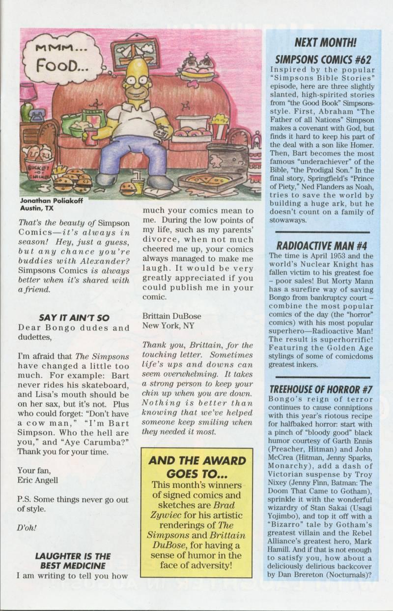 Read online Simpsons Comics comic -  Issue #61 - 28