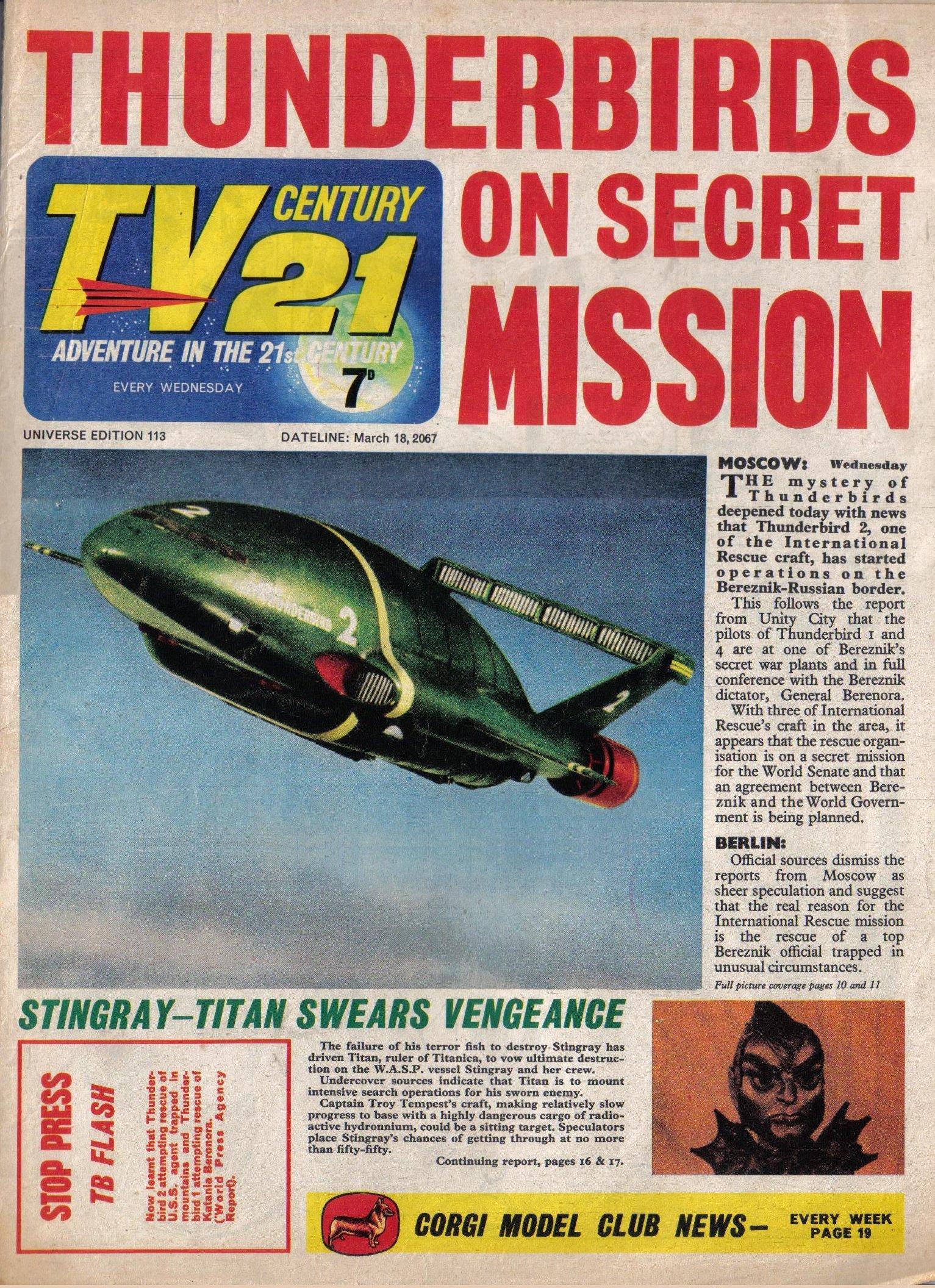 TV Century 21 (TV 21) 113 Page 1