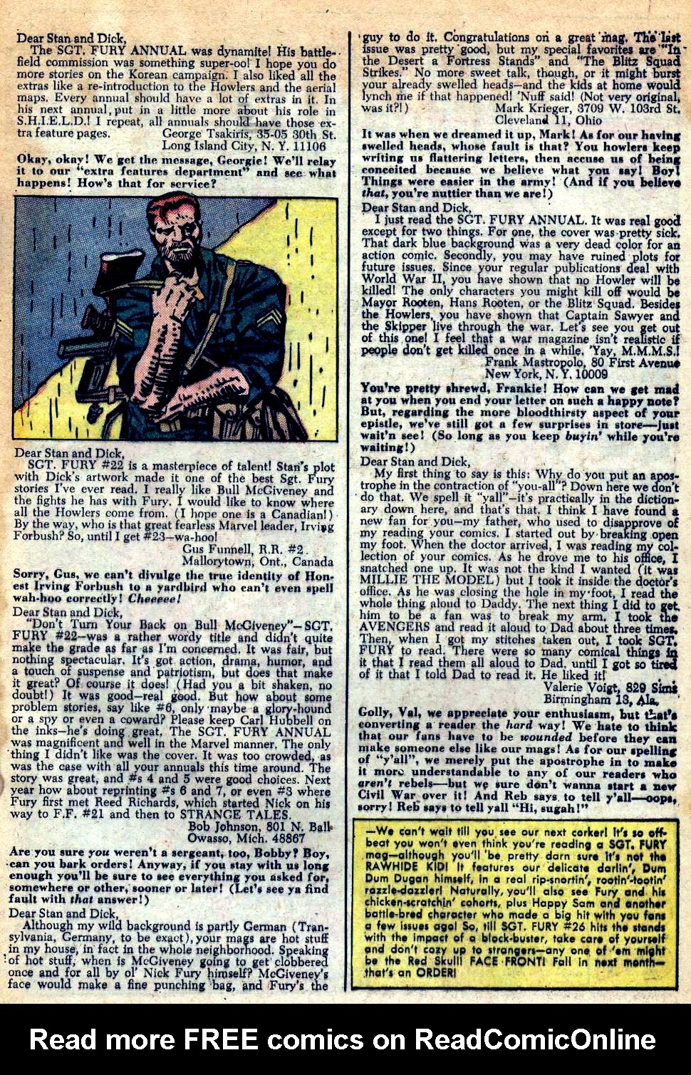 Read online Sgt. Fury comic -  Issue #25 - 33