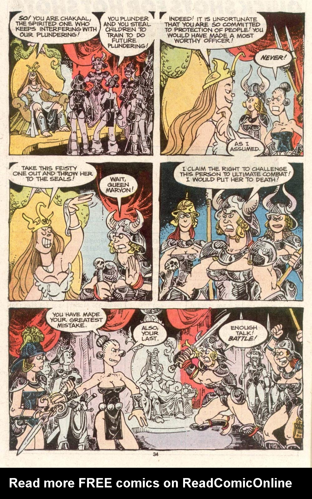 Read online Sergio Aragonés Groo the Wanderer comic -  Issue #50 - 34