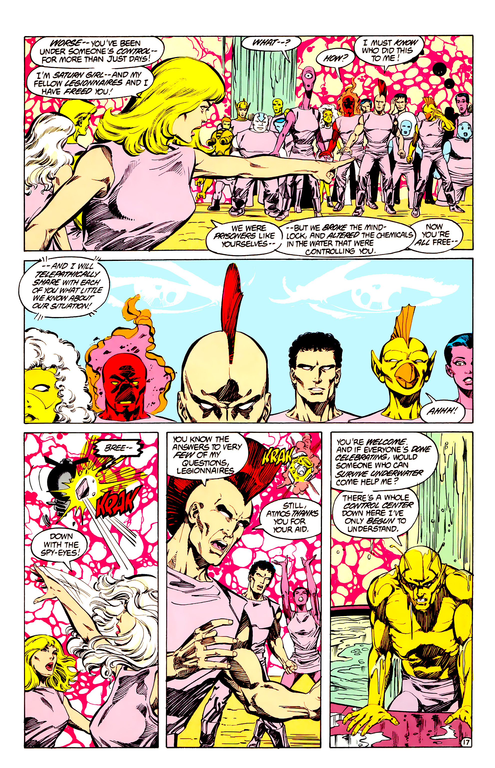 Legion of Super-Heroes (1984) 33 Page 17