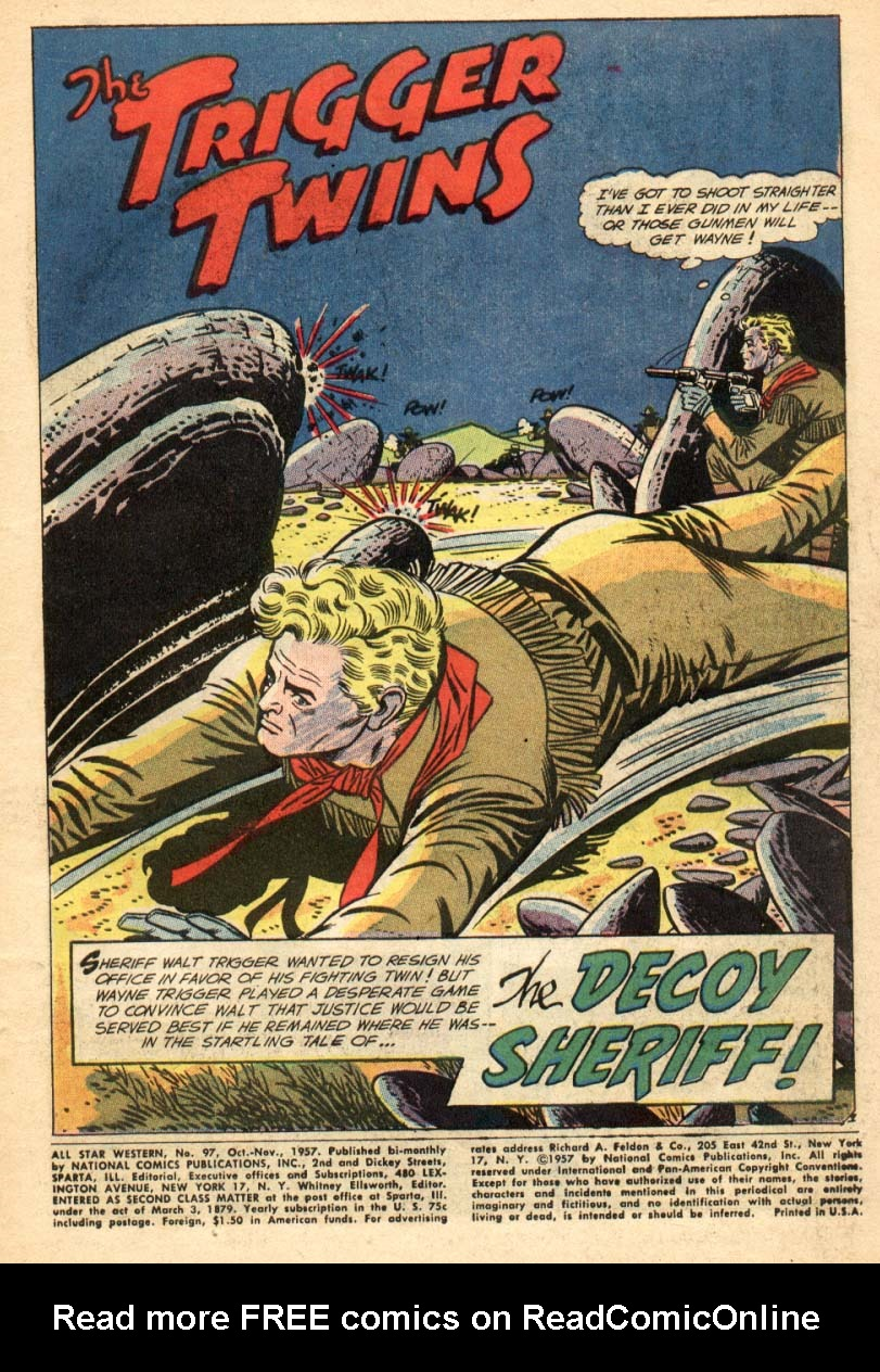 Read online All-Star Western (1951) comic -  Issue #97 - 2