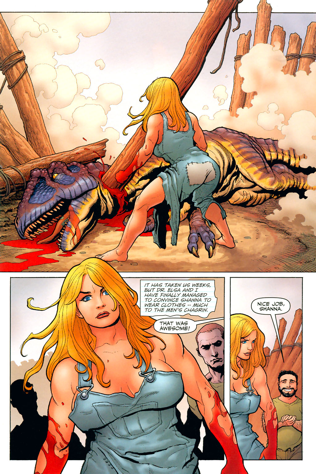 Read online Shanna, the She-Devil (2005) comic -  Issue #2 - 8