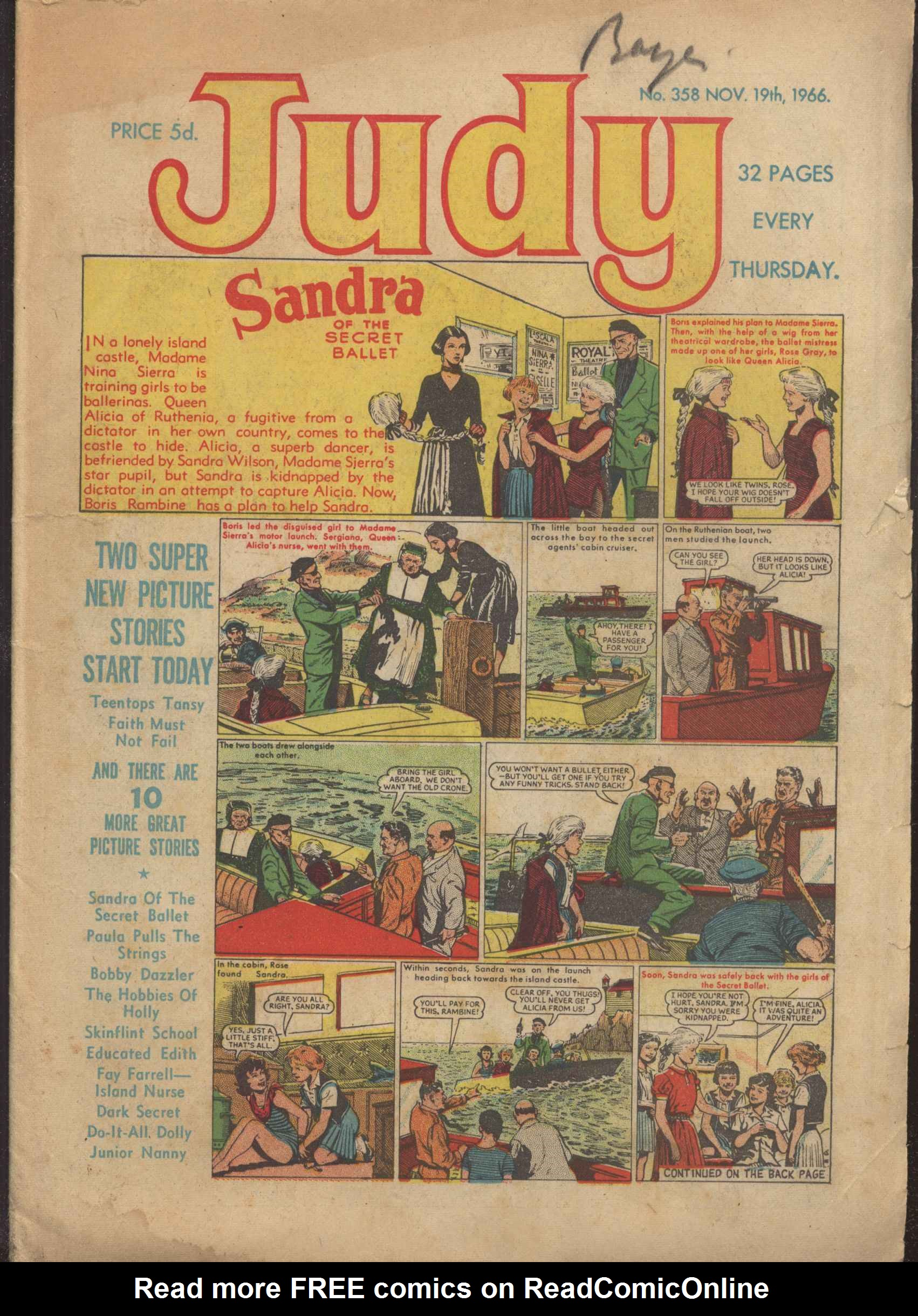 Read online Judy comic -  Issue #358 - 1