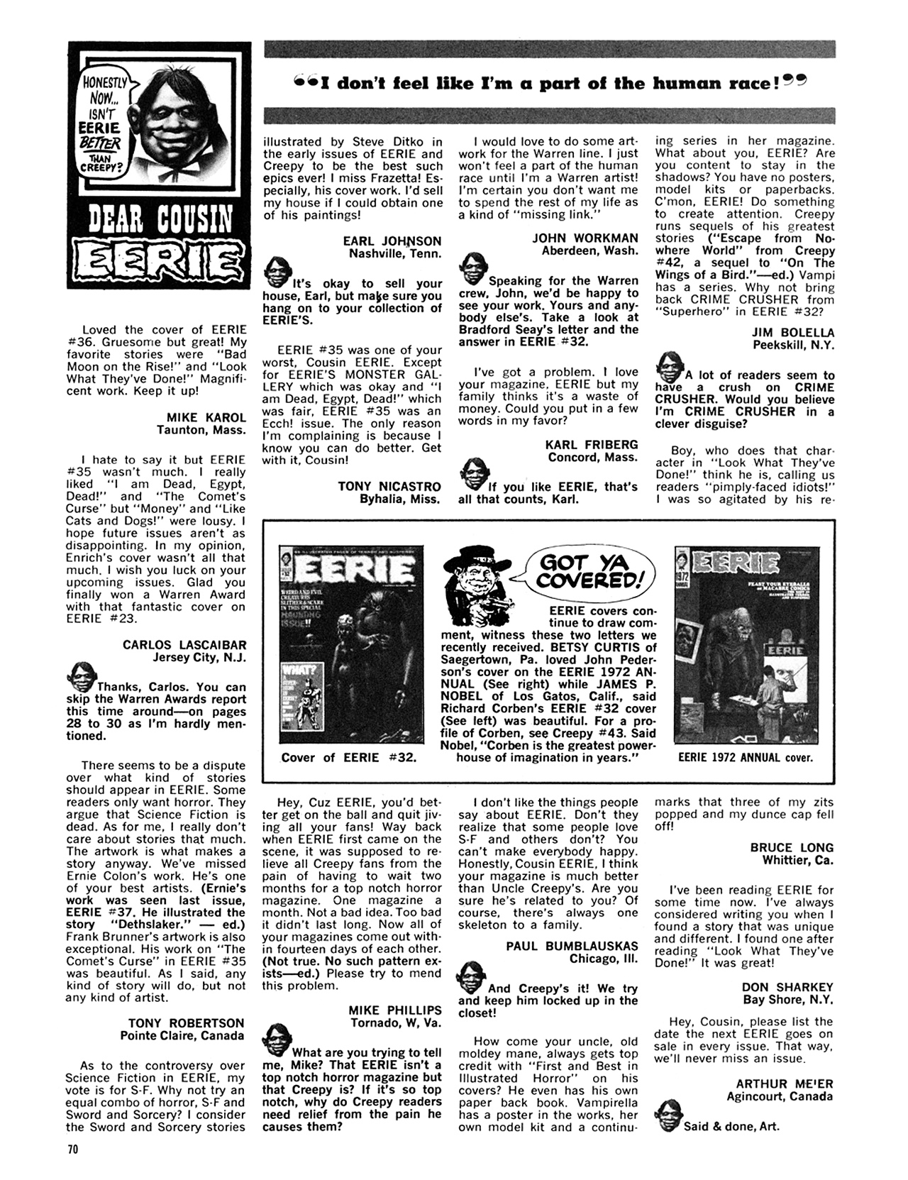 Read online Eerie Archives comic -  Issue # TPB 8 - 71