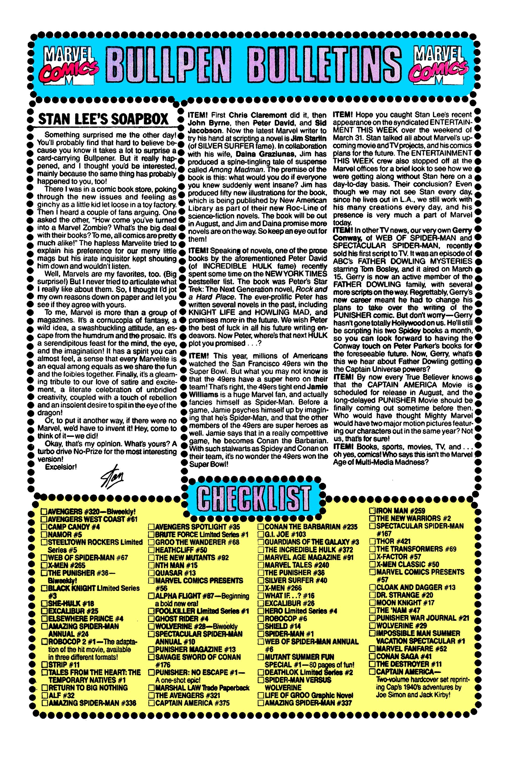Read online Uncanny X-Men (1963) comic -  Issue #264 - 21