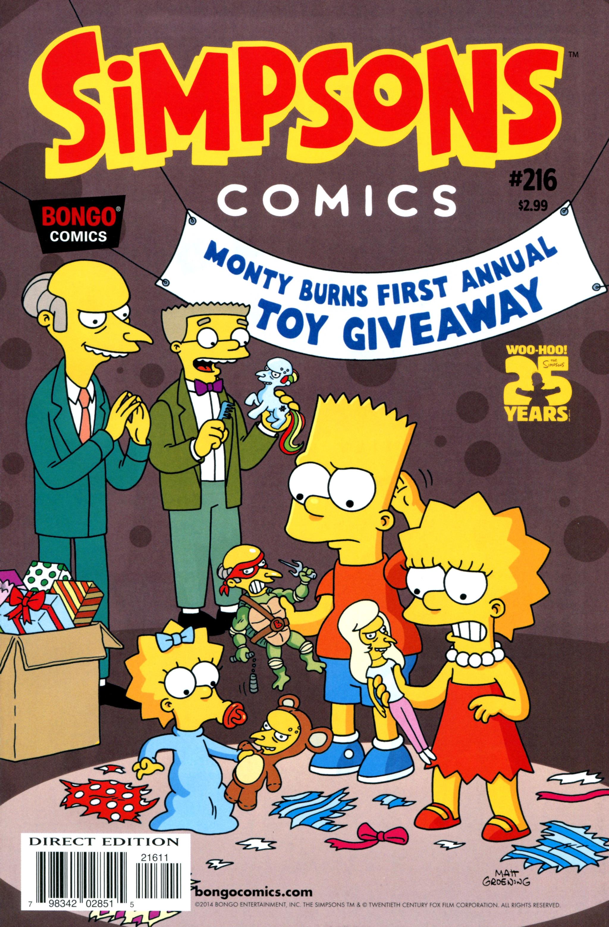 Simpsons Comics 216 Page 1