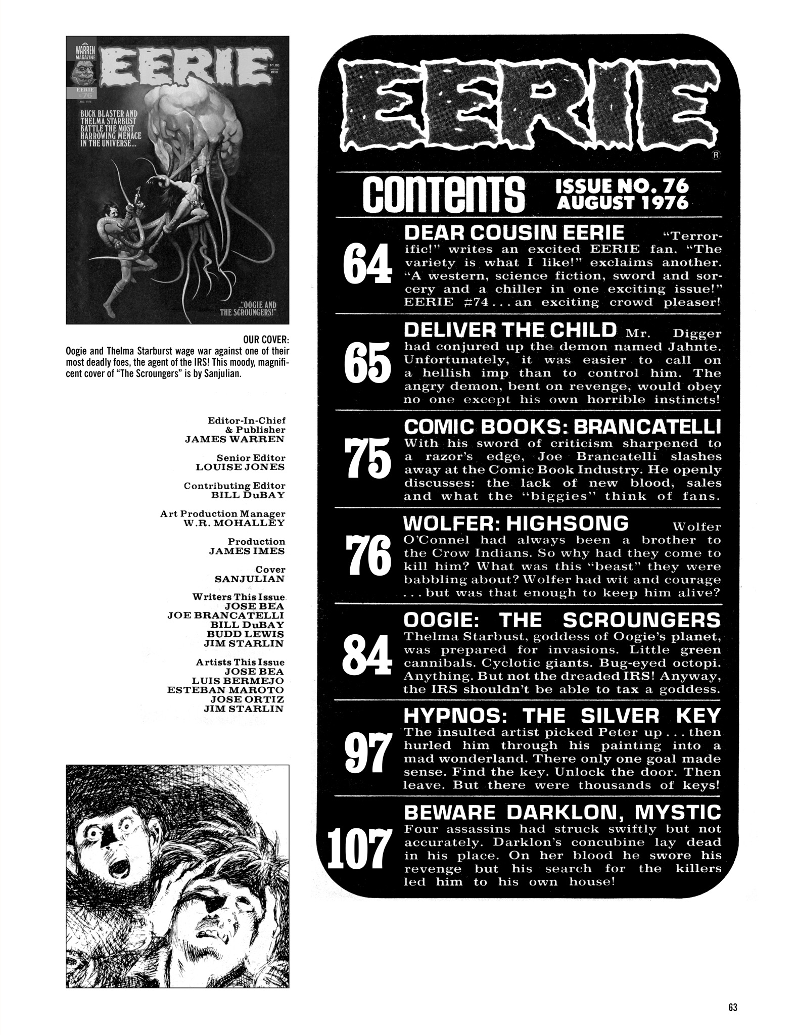 Read online Eerie Archives comic -  Issue # TPB 16 - 64