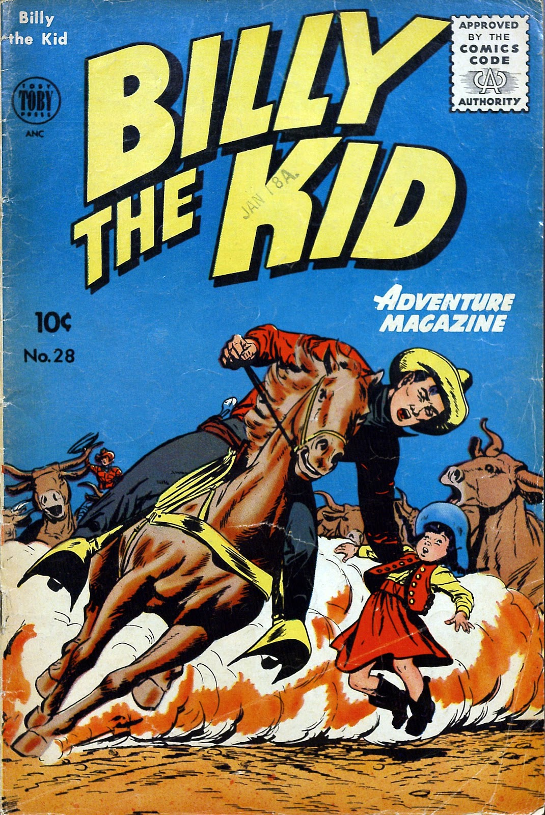 Billy the Kid Adventure Magazine 28 Page 1