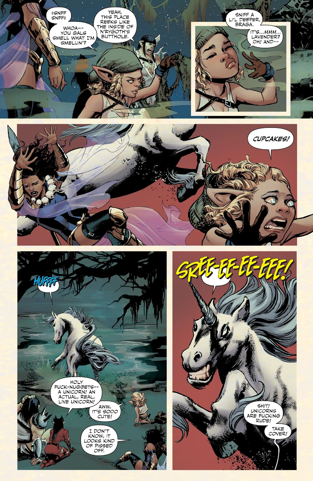 Read online Rat Queens Special: Swamp Romp comic -  Issue # Full - 10