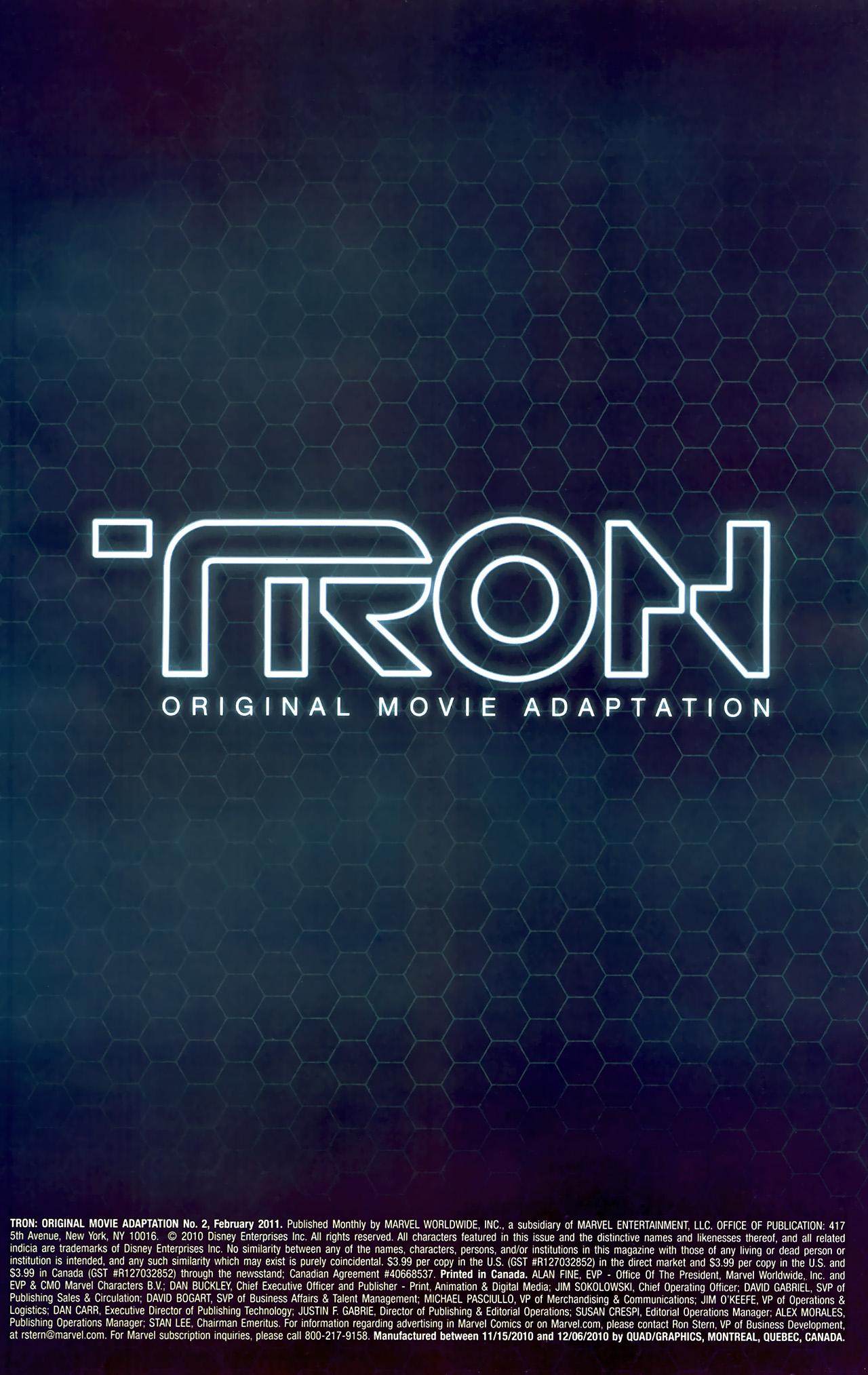 Read online TRON: Original Movie Adaptation comic -  Issue #2 - 2