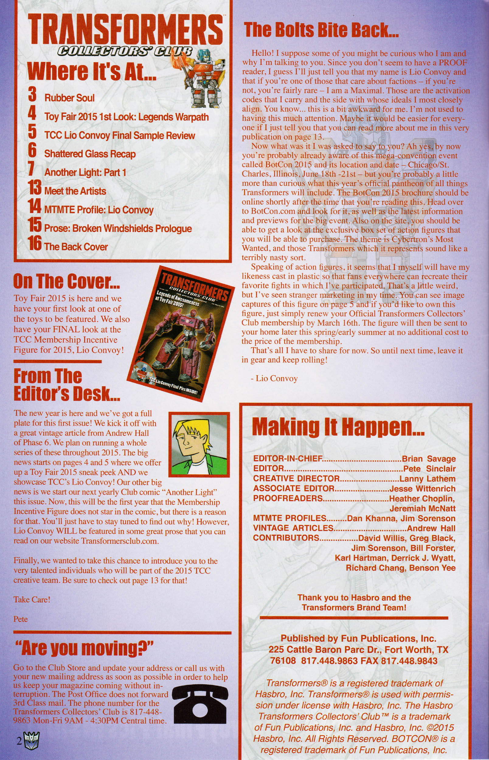 Read online Transformers: Collectors' Club comic -  Issue #61 - 2