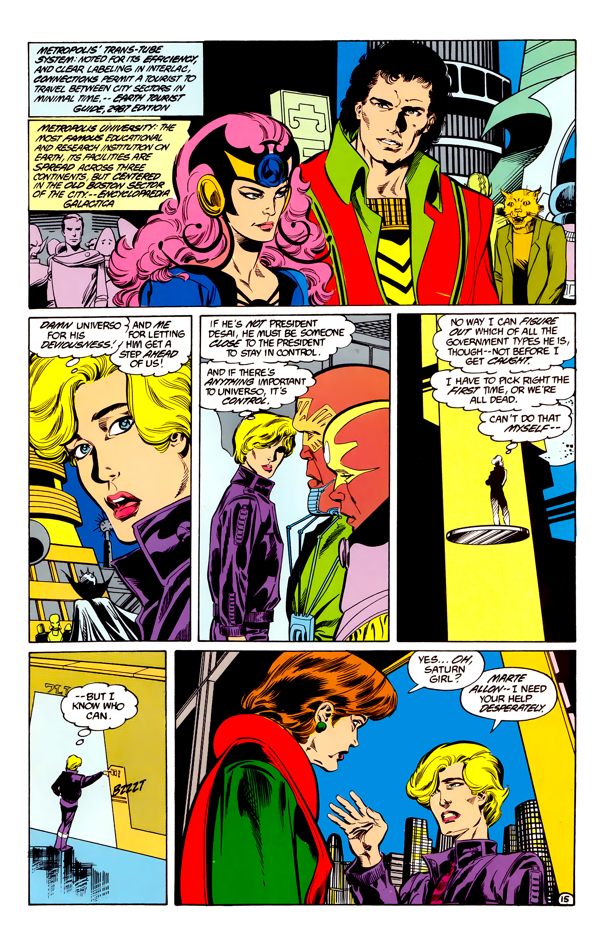 Legion of Super-Heroes (1984) 35 Page 15