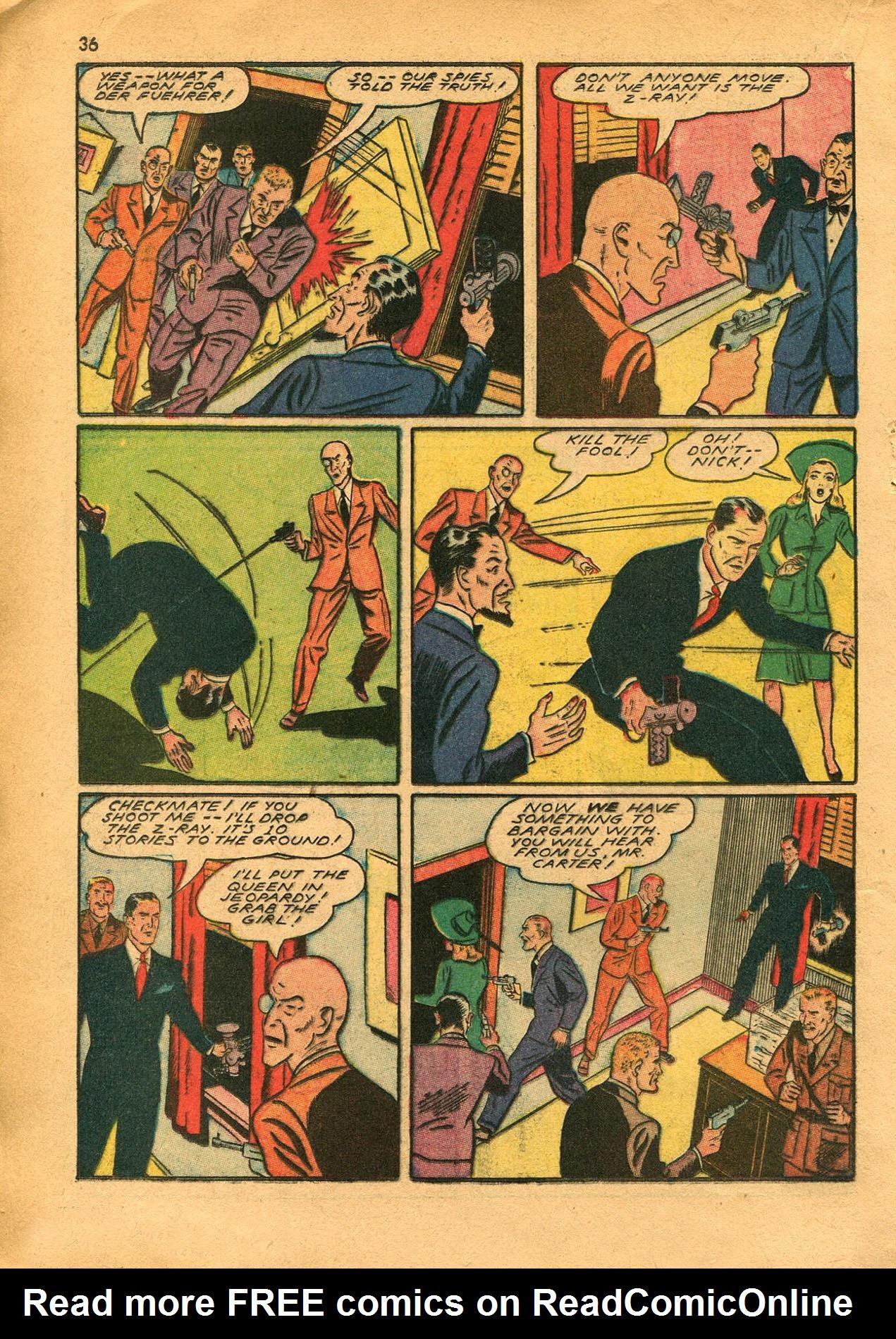 Read online Shadow Comics comic -  Issue #23 - 36