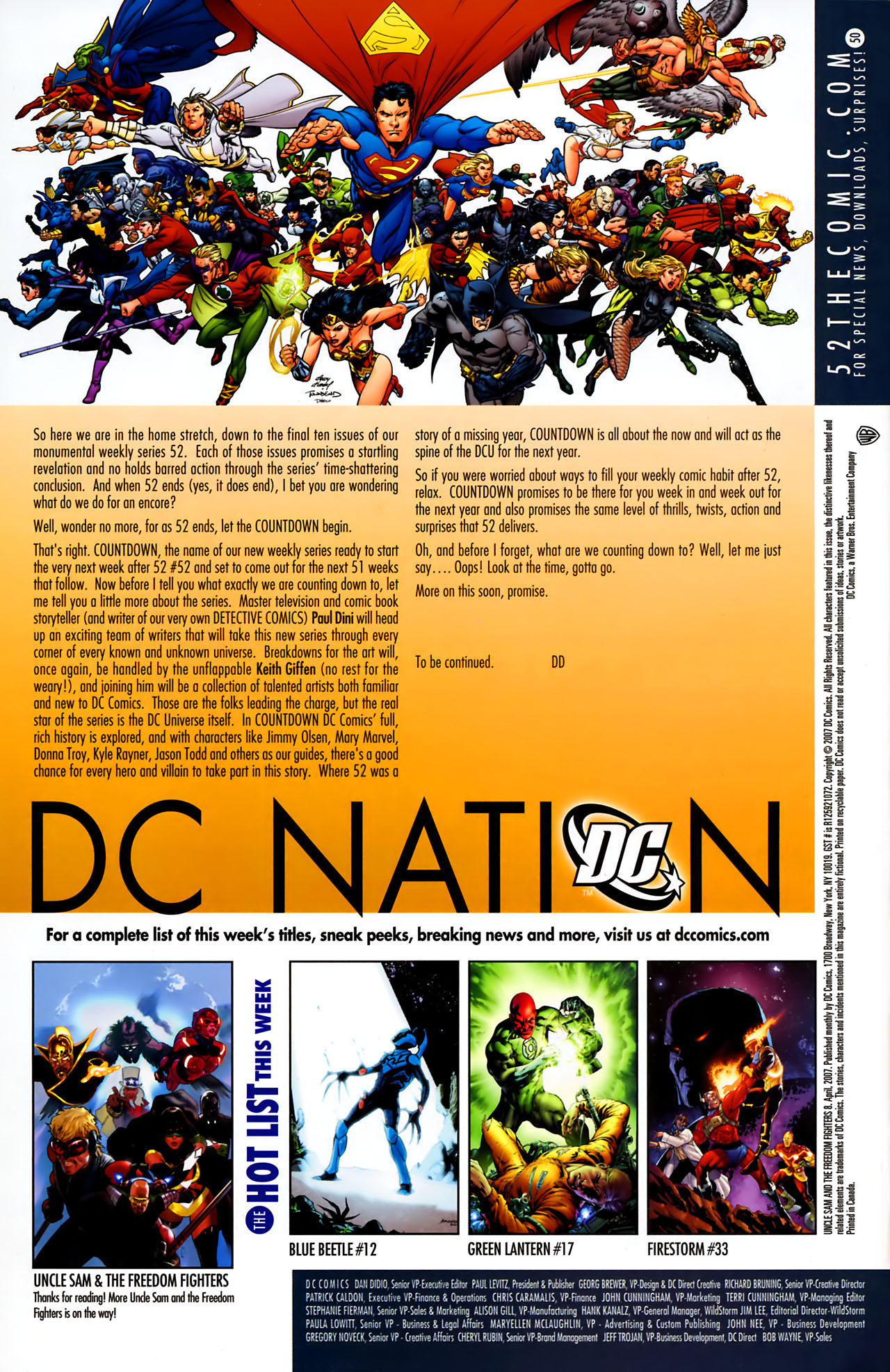 Read online Uncle Sam and the Freedom Fighters (2006) comic -  Issue #8 - 22