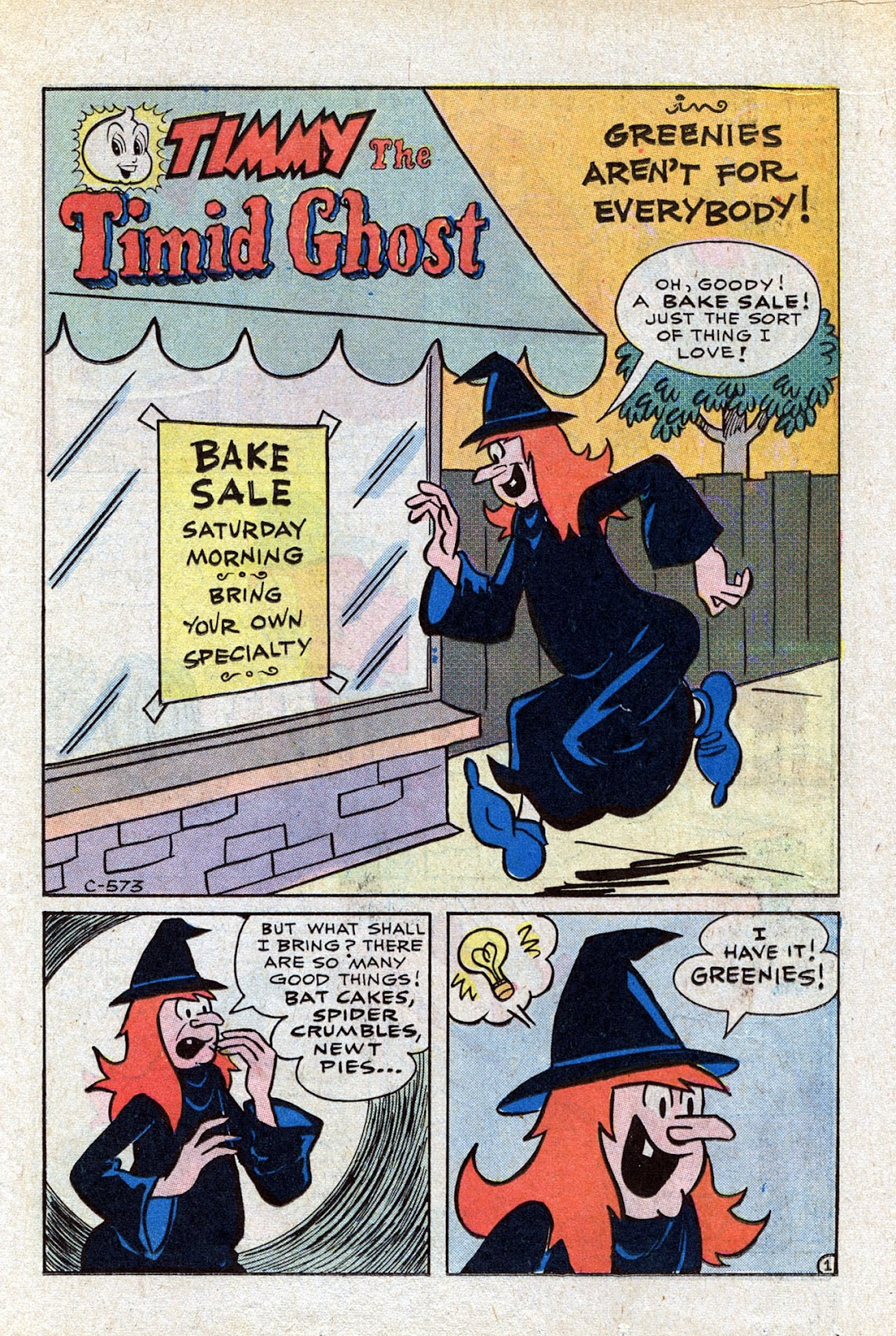 Read online Timmy the Timid Ghost comic -  Issue #15 - 15
