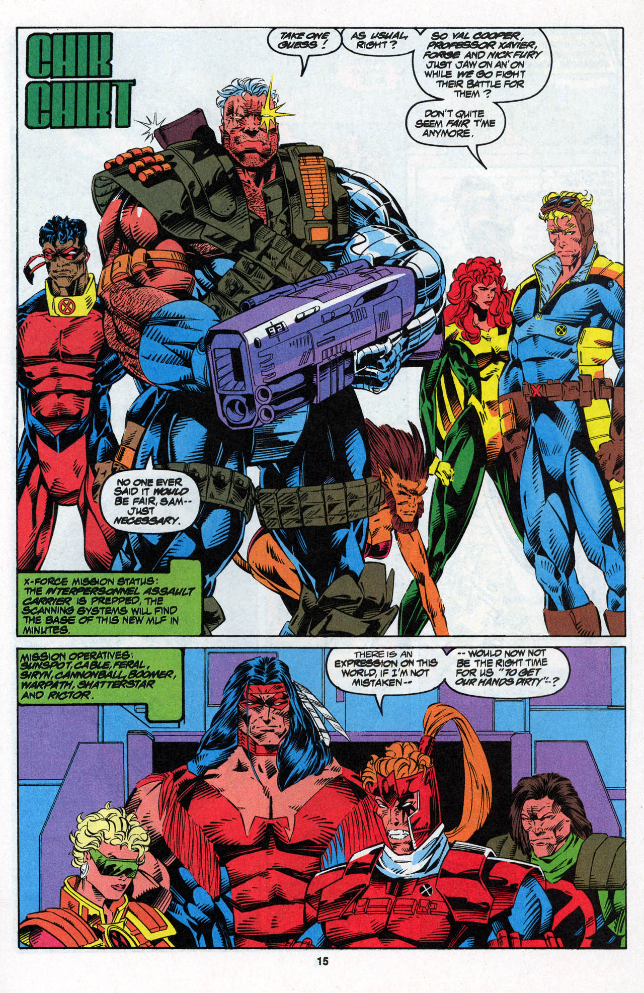 Read online X-Force (1991) comic -  Issue #27 - 16