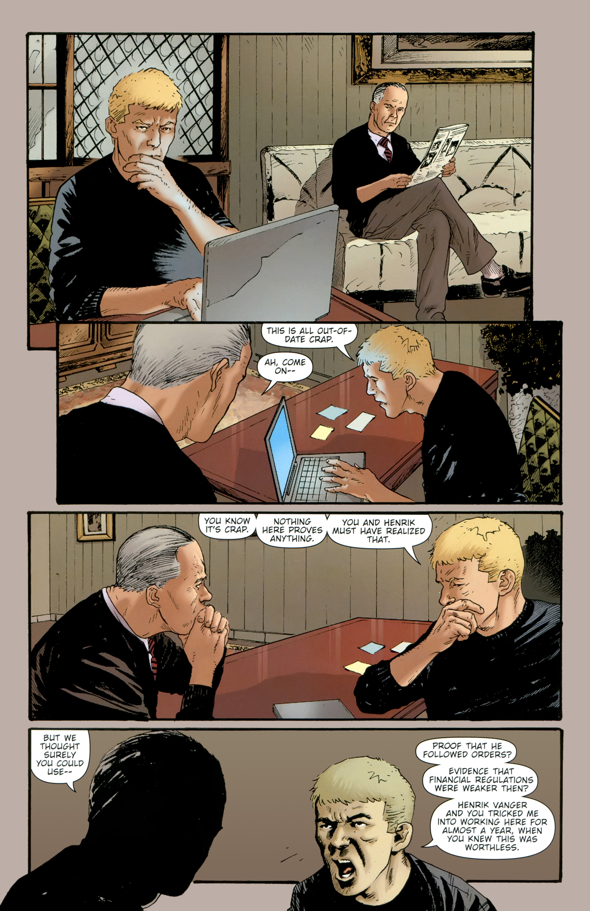 Read online The Girl With the Dragon Tattoo comic -  Issue # TPB 2 - 140