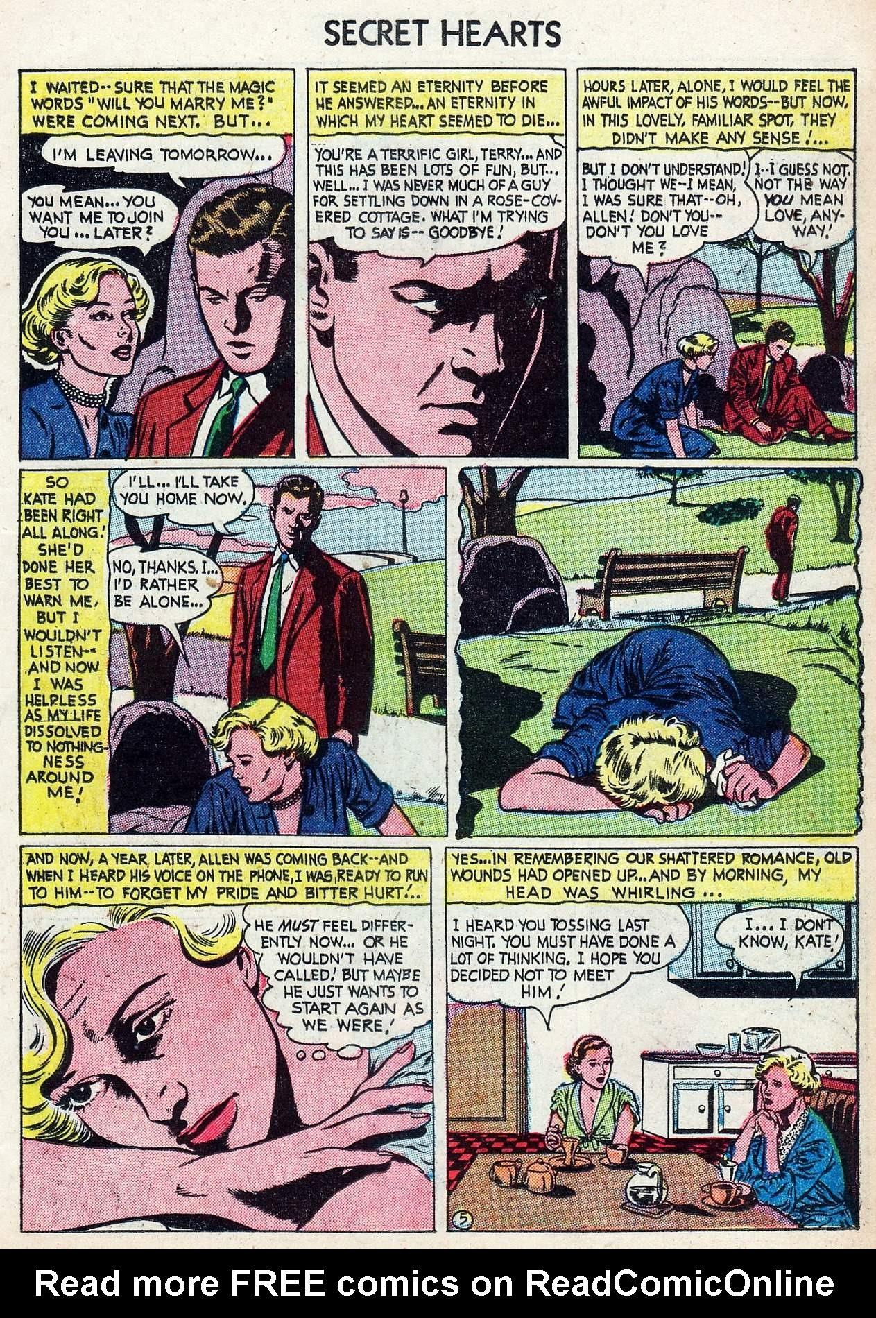 Read online Secret Hearts comic -  Issue #25 - 23