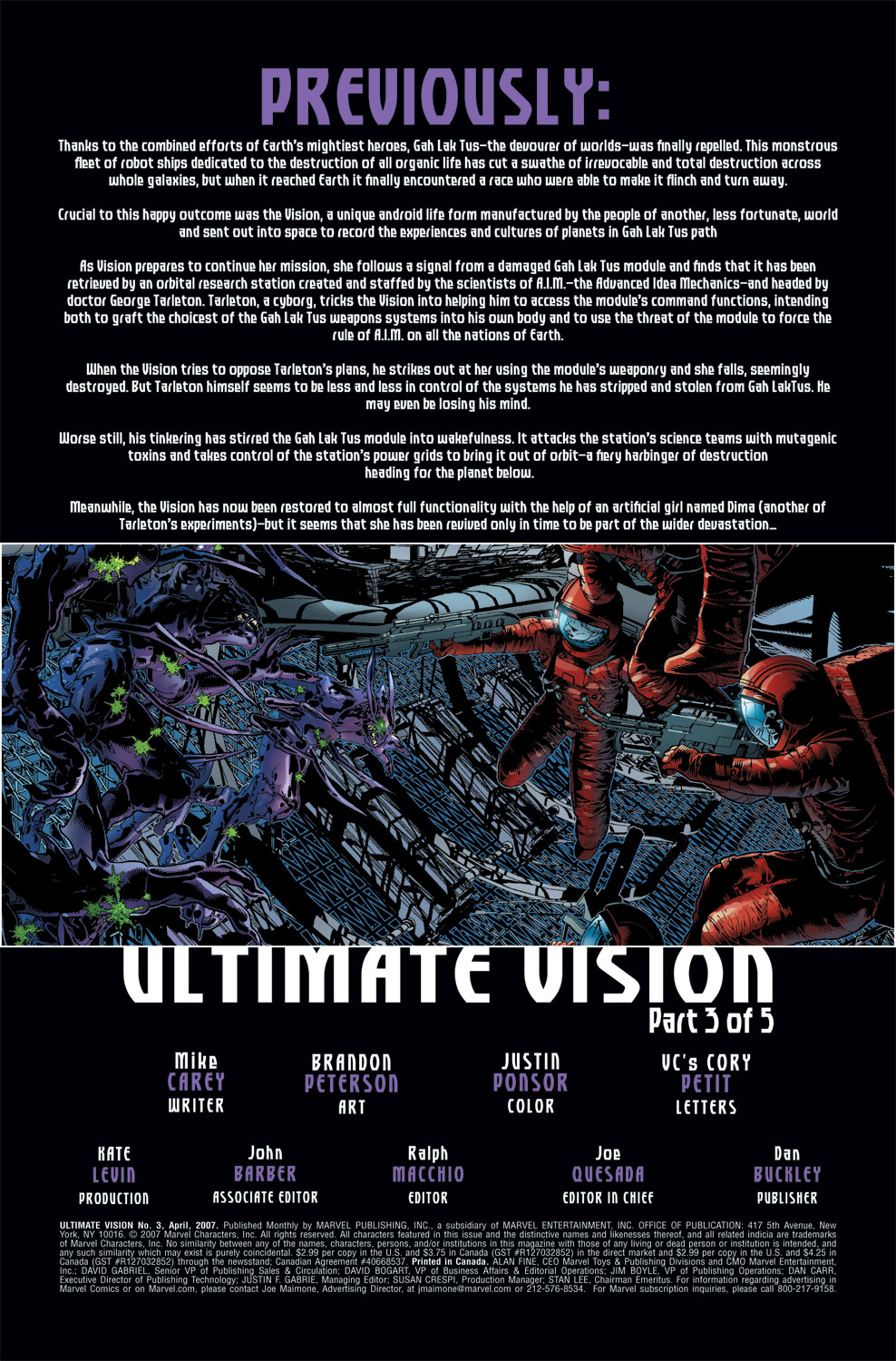 Read online Ultimate Vision comic -  Issue #3 - 3