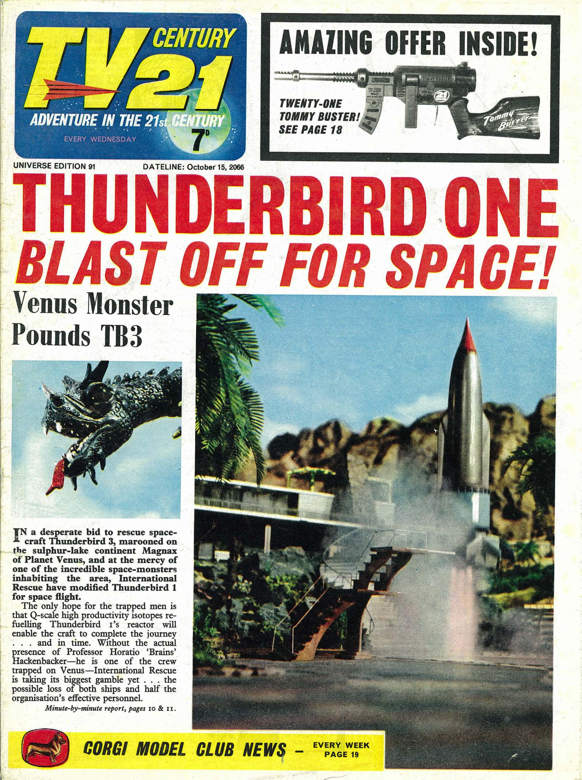 Read online TV Century 21 (TV 21) comic -  Issue #91 - 1