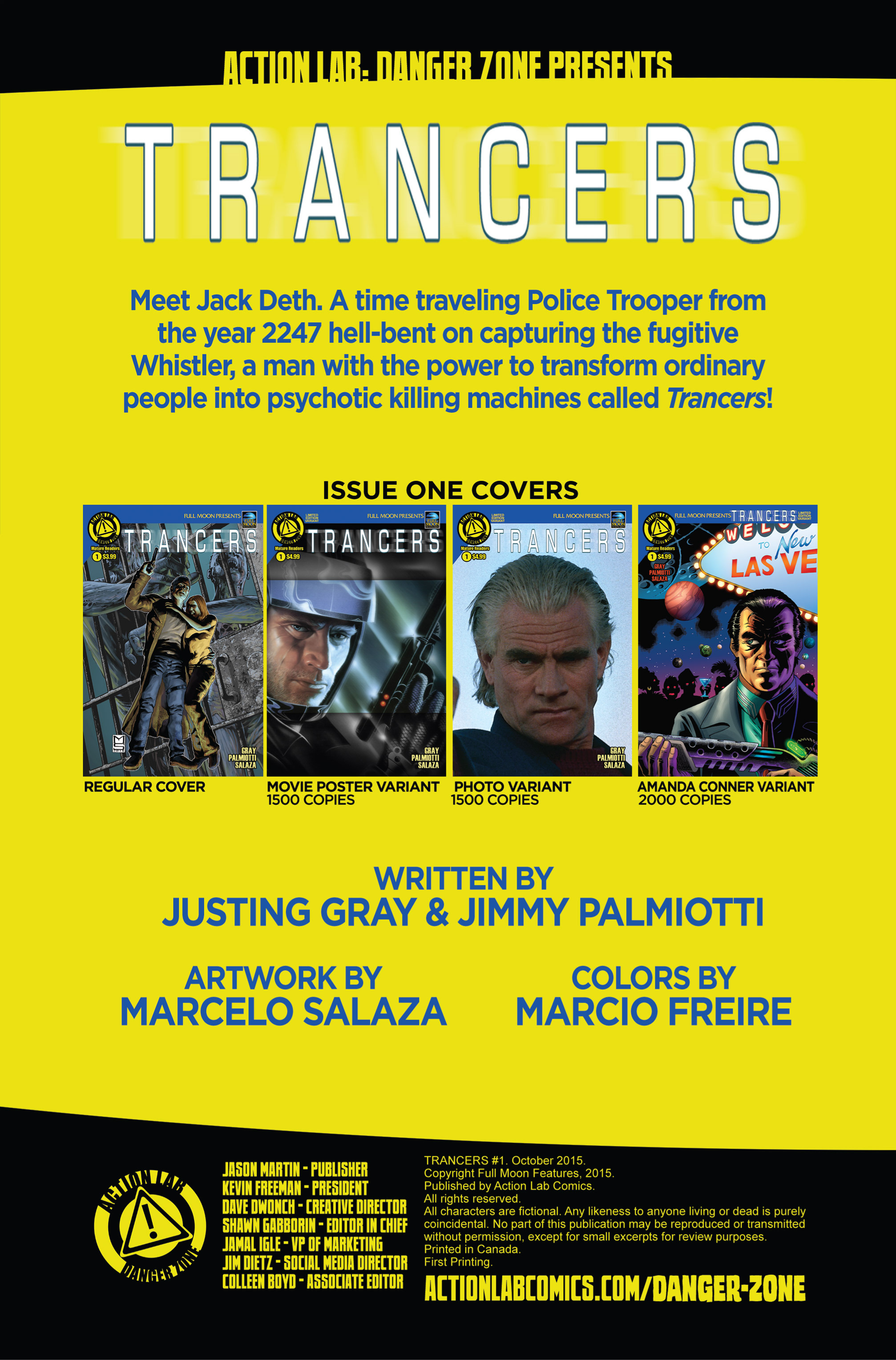 Read online Trancers comic -  Issue #1 - 4
