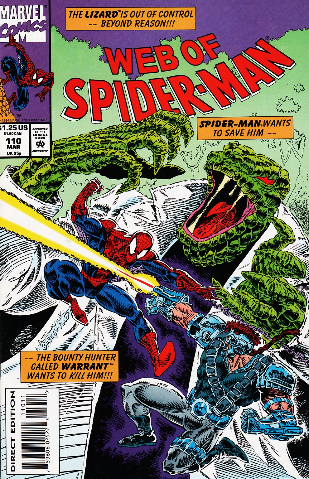 Web of Spider-Man (1985) 110 Page 1
