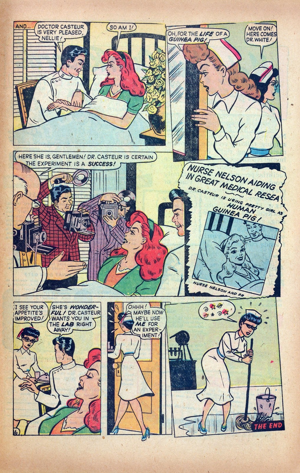 Read online Nellie The Nurse (1945) comic -  Issue #24 - 27