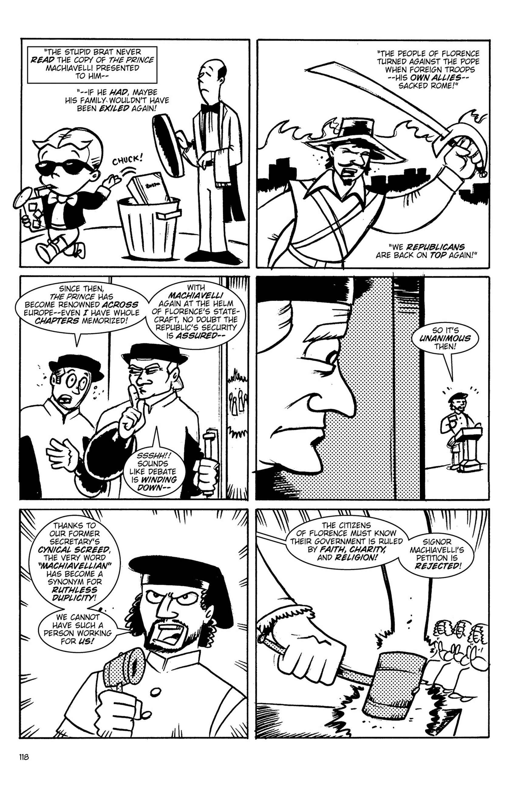 Read online Action Philosophers! comic -  Issue #Action Philosophers! TPB (Part 1) - 118