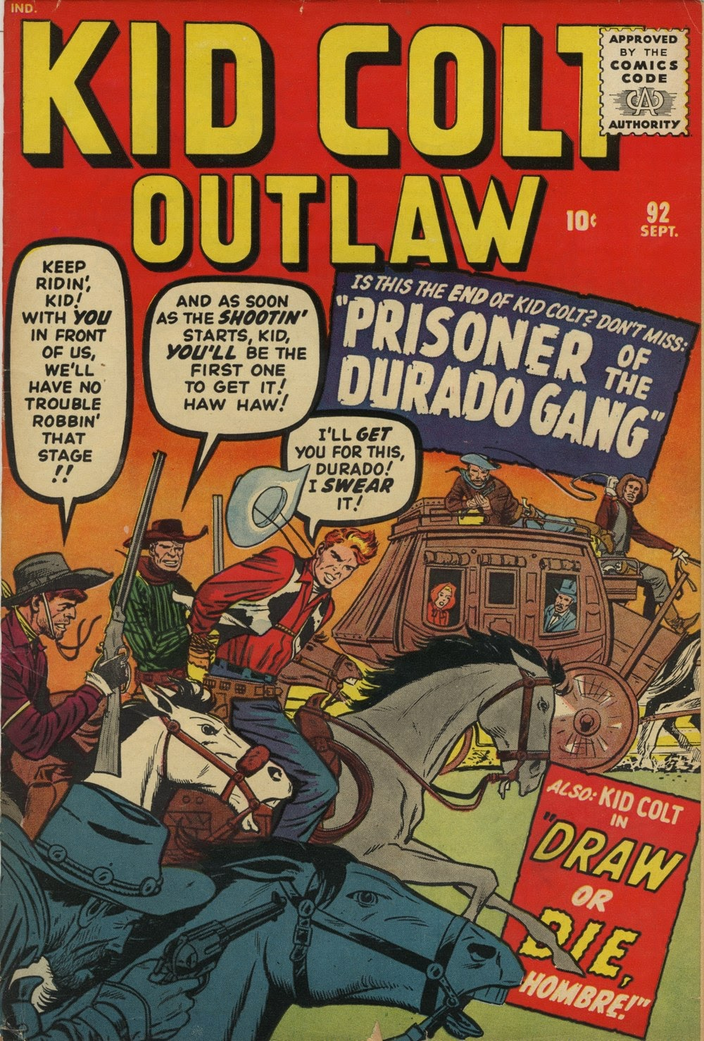 Kid Colt Outlaw issue 92 - Page 1