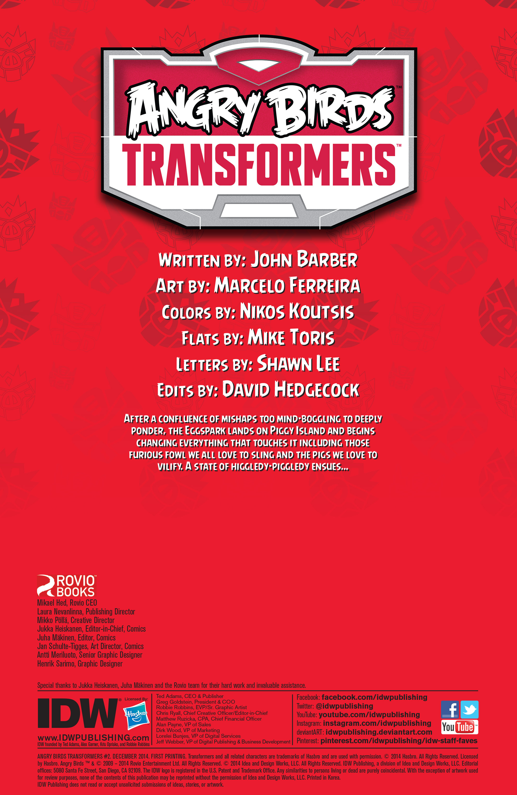 Read online Angry Birds Transformers comic -  Issue #2 - 2