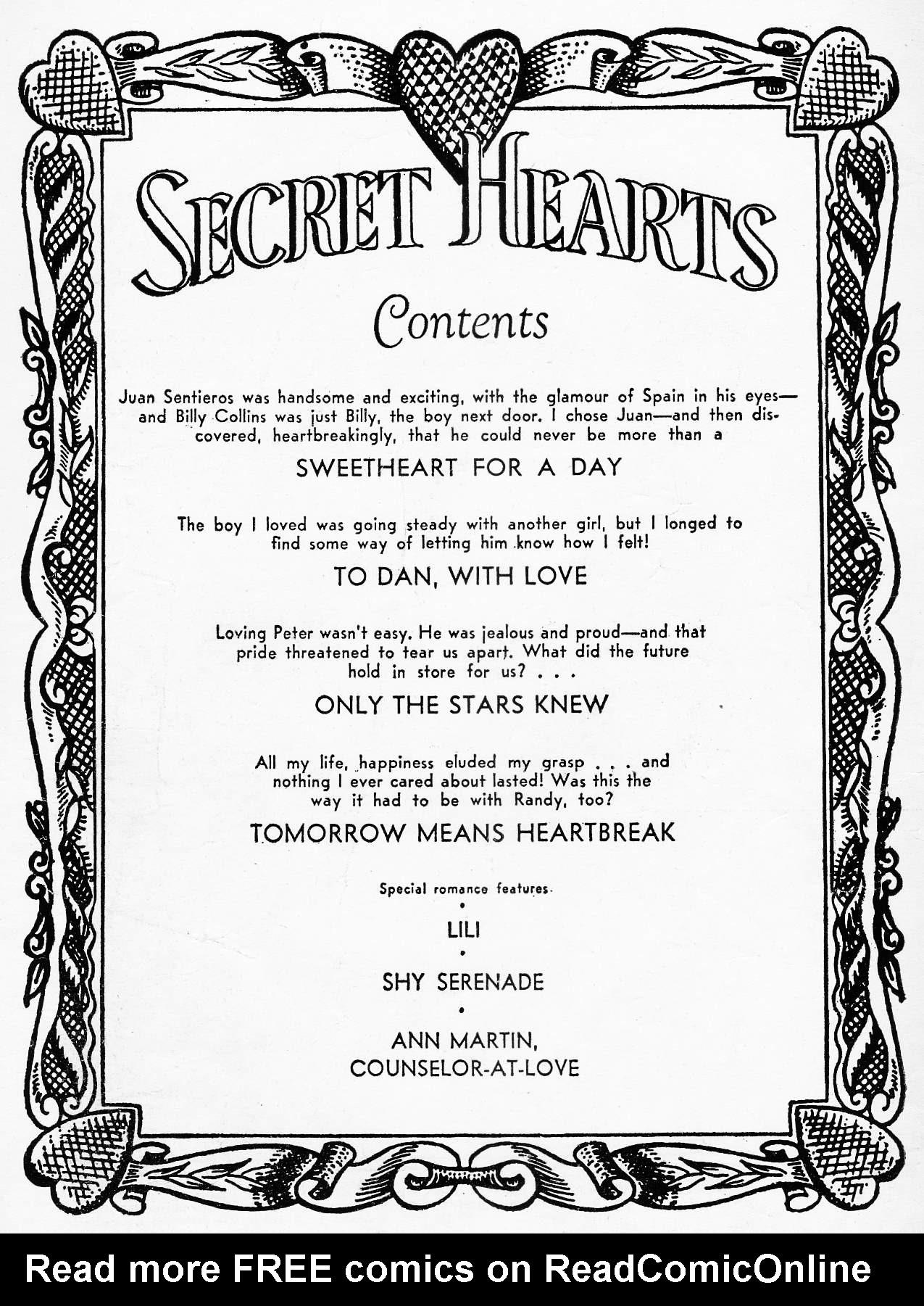 Read online Secret Hearts comic -  Issue #29 - 2