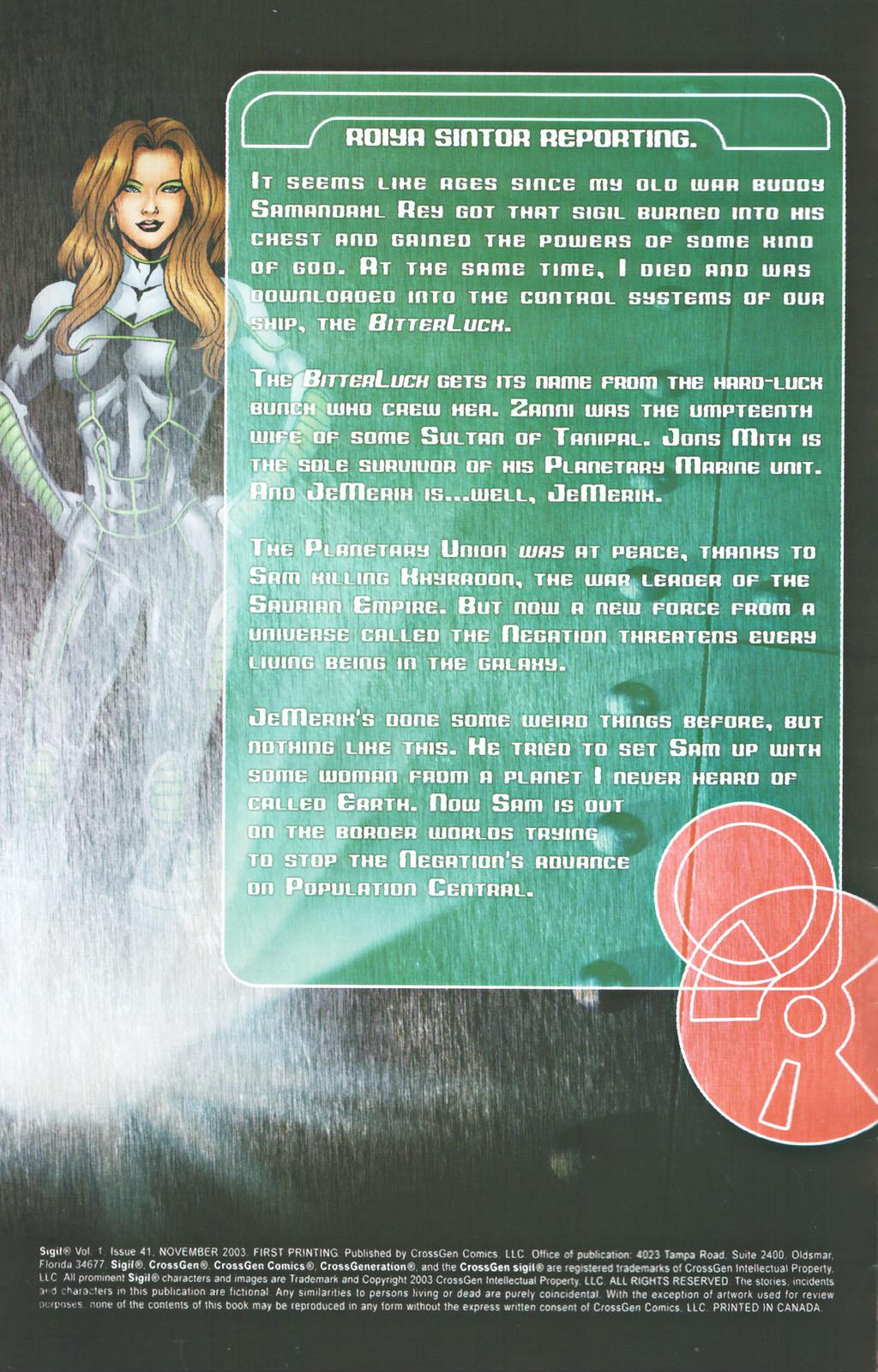 Read online Sigil (2000) comic -  Issue #41 - 2