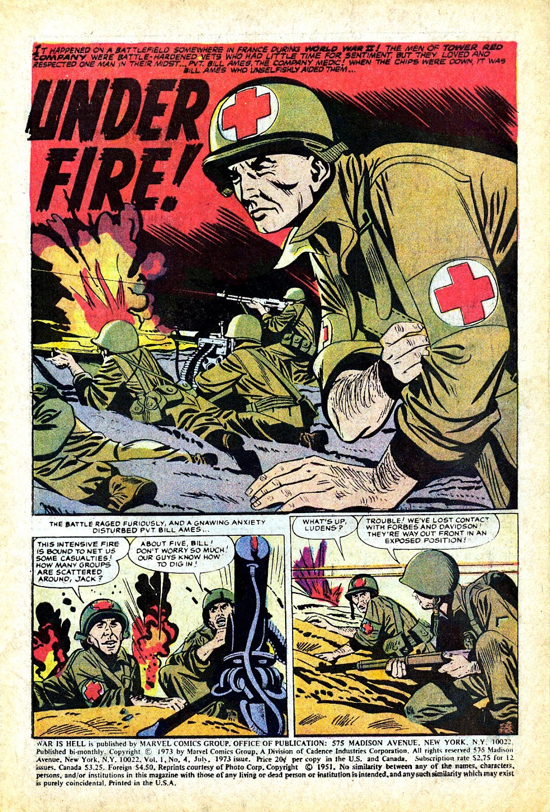 War Is Hell (1973) issue 4 - Page 3