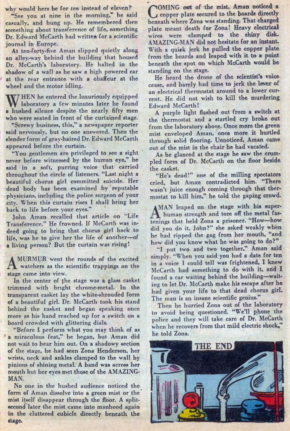 Read online Amazing Man Comics comic -  Issue #15 - 44