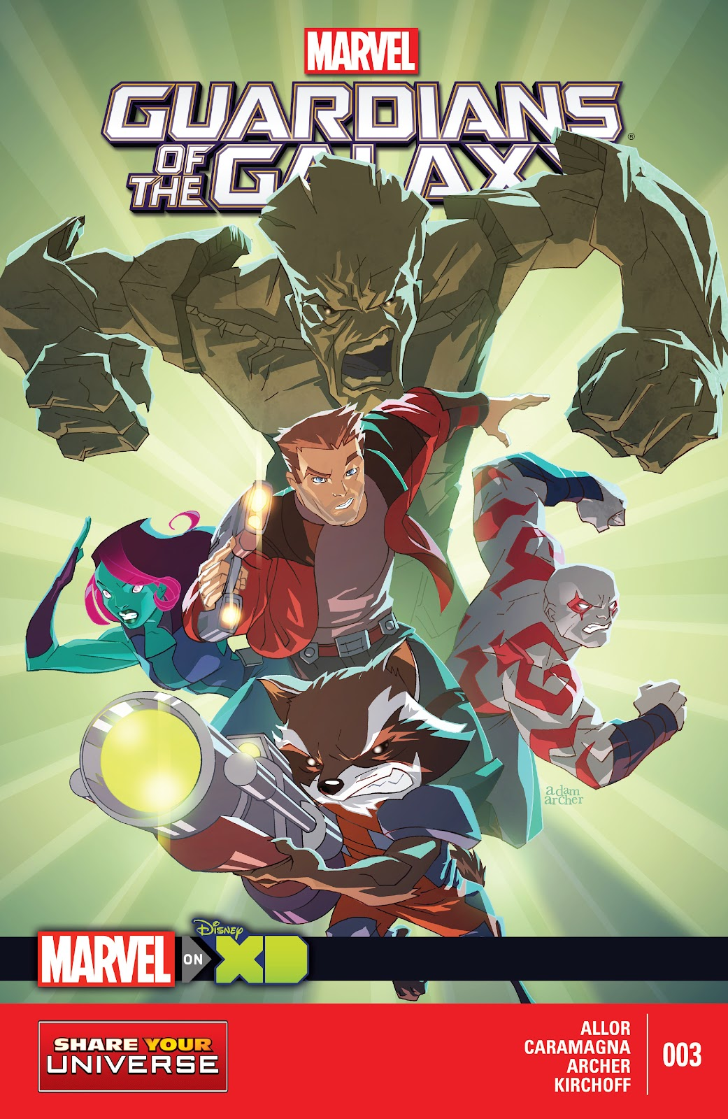 Read online Marvel Universe Guardians of the Galaxy [I] comic -  Issue #3 - 1