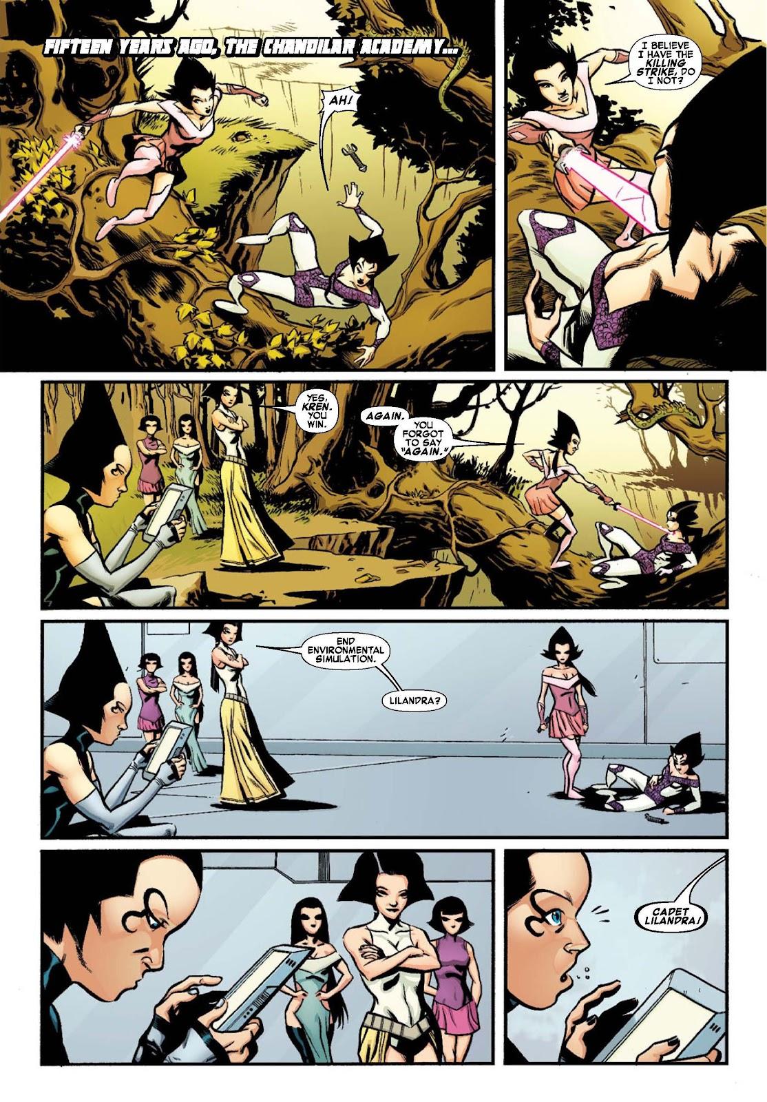 Read online War of Kings: Warriors - Lilandra comic -  Issue #1 - 4