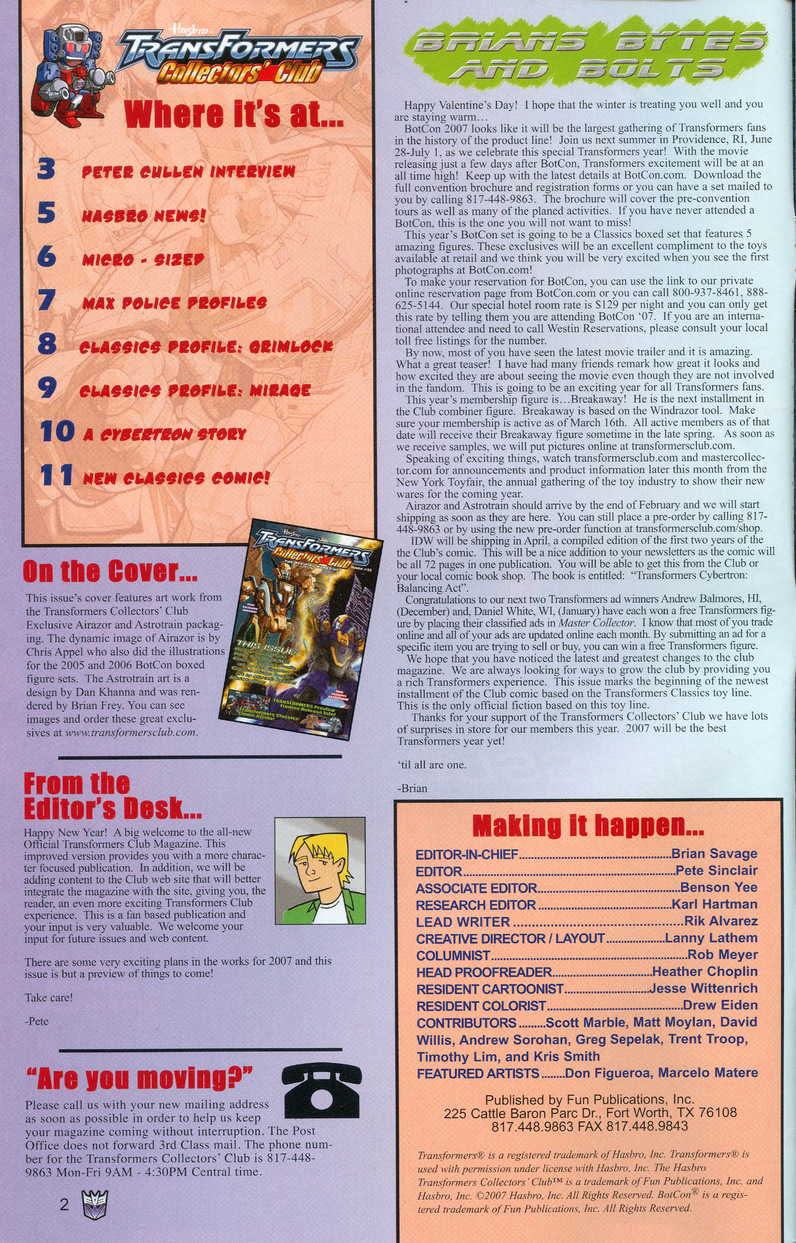 Read online Transformers: Collectors' Club comic -  Issue #13 - 2
