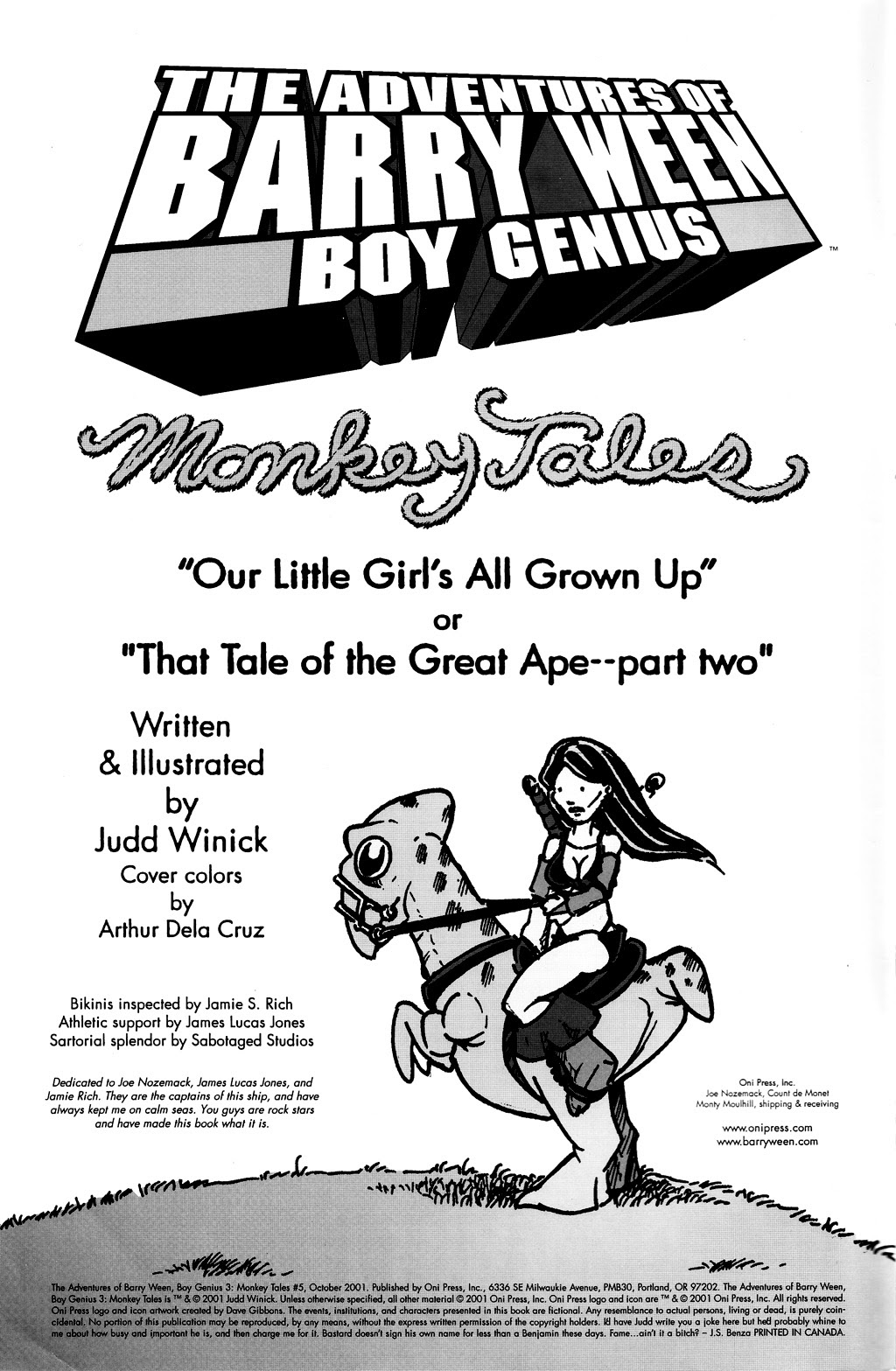 Read online The Adventures of Barry Ween, Boy Genius 3: Monkey Tales comic -  Issue #5 - 2