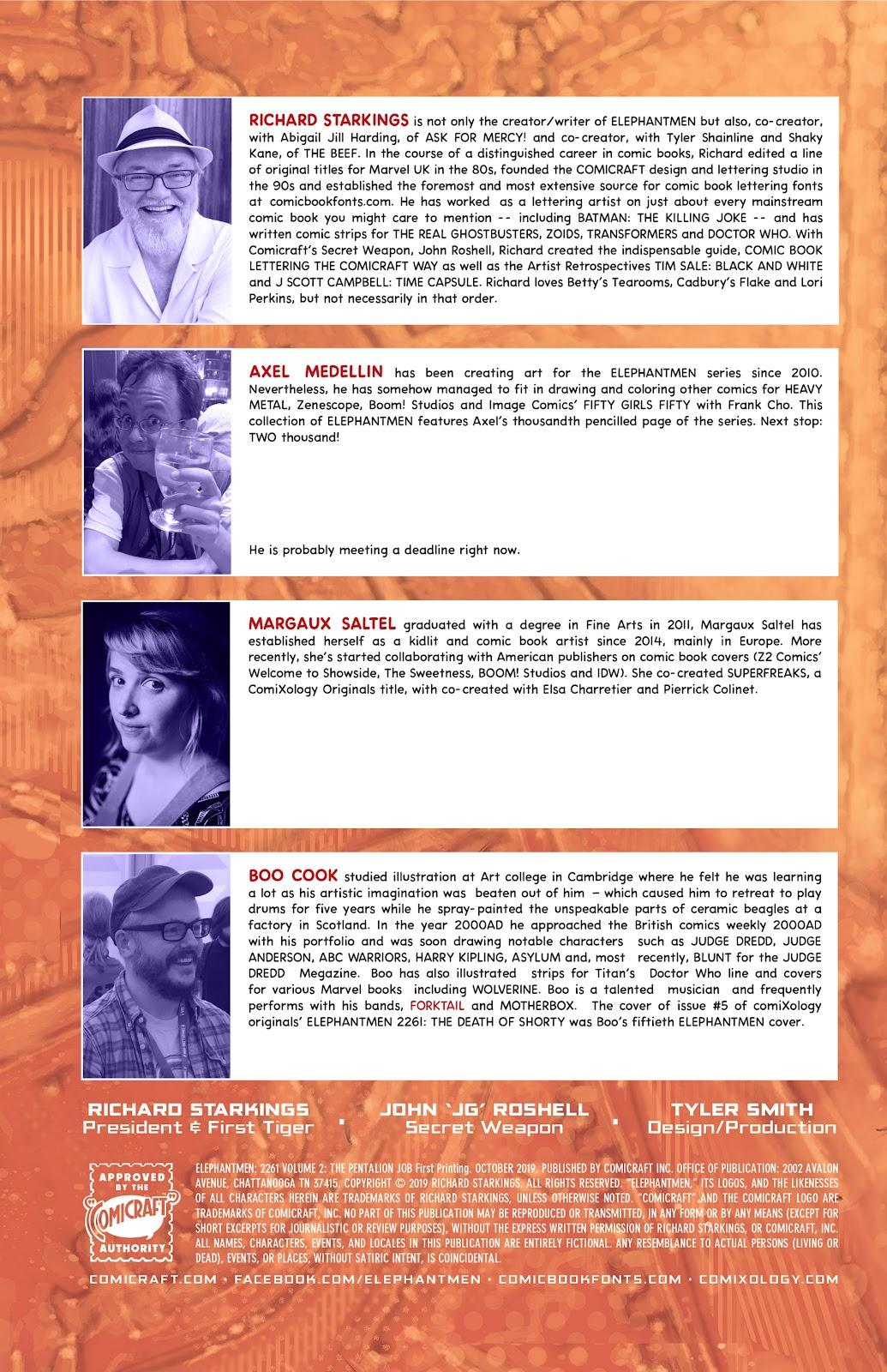 Read online Elephantmen 2261 Season Two: The Pentalion Job comic -  Issue # TPB - 5