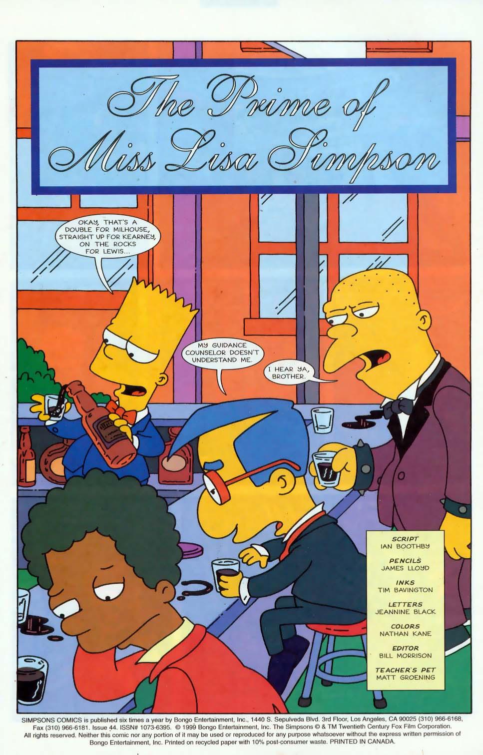 Read online Simpsons Comics comic -  Issue #44 - 2