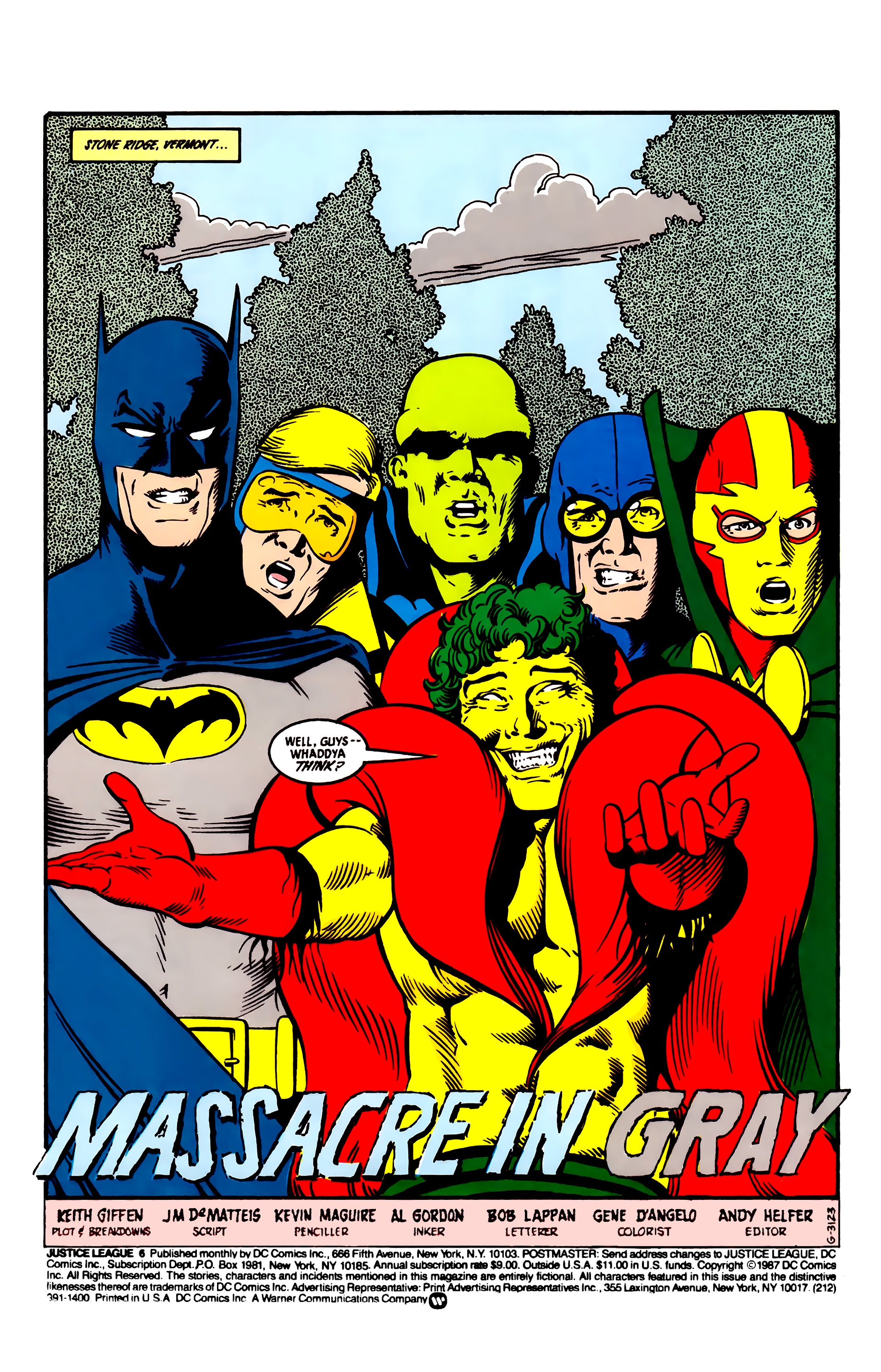 Read online Justice League (1987) comic -  Issue #6 - 2