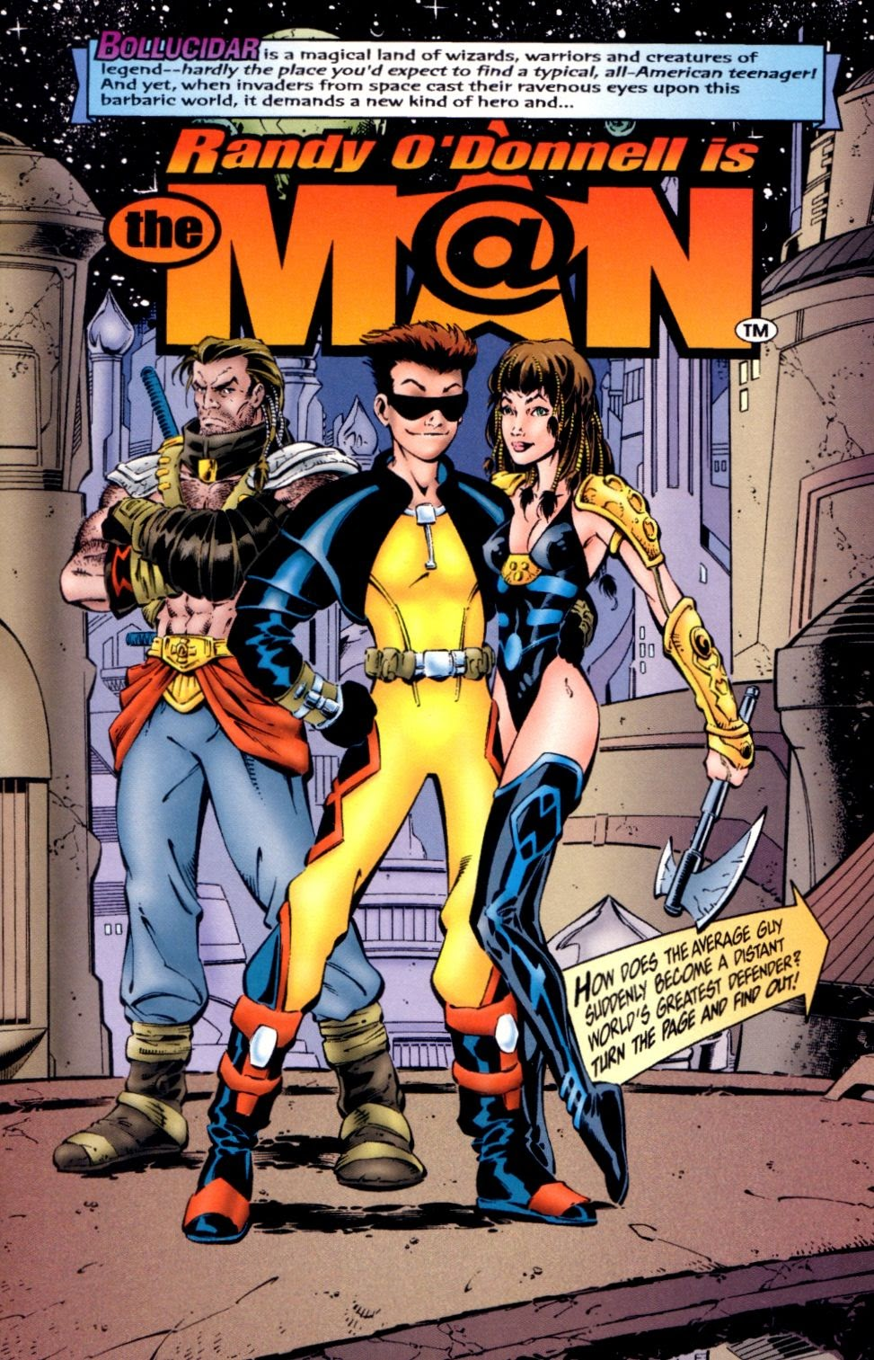 Read online Randy O'Donnell is The M@N comic -  Issue #1 - 3