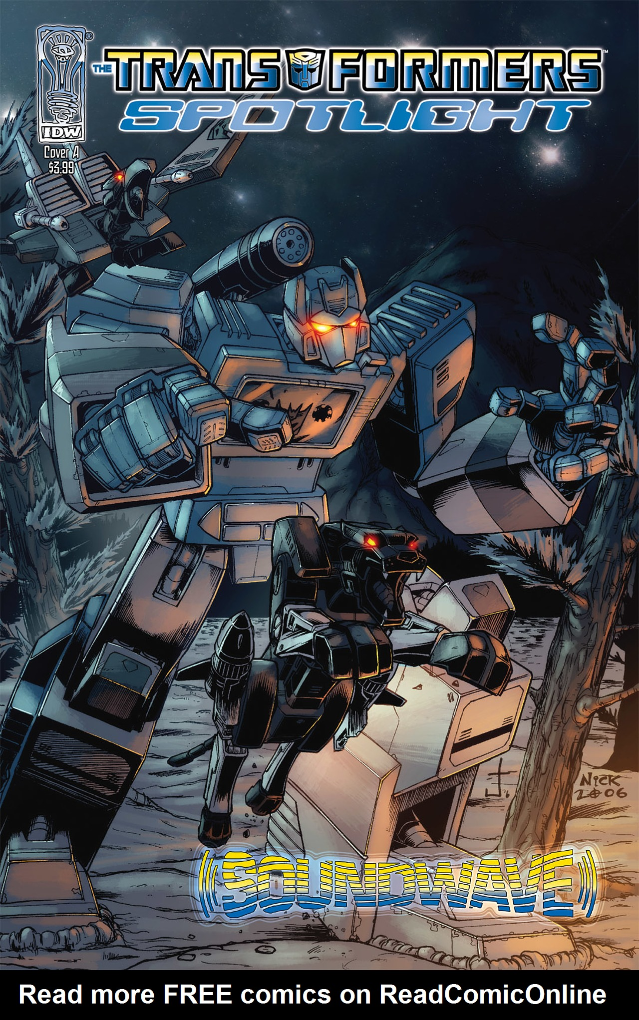 Read online Transformers Spotlight: Soundwave comic -  Issue # Full - 1